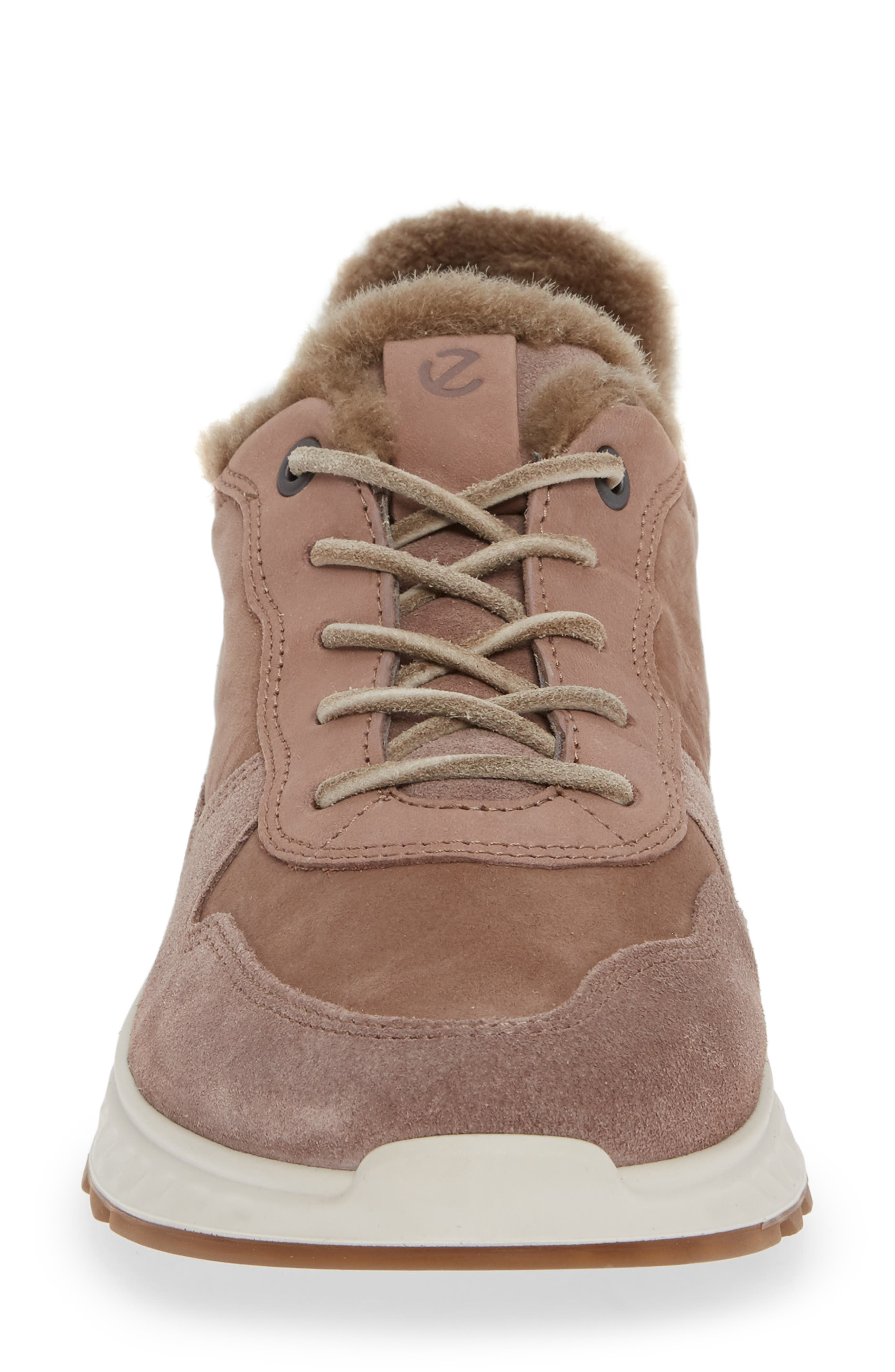 ST1 Genuine Shearling Sneaker,                             Alternate thumbnail 4, color,                             DEEP TAUPE NUBUCK LEATHER