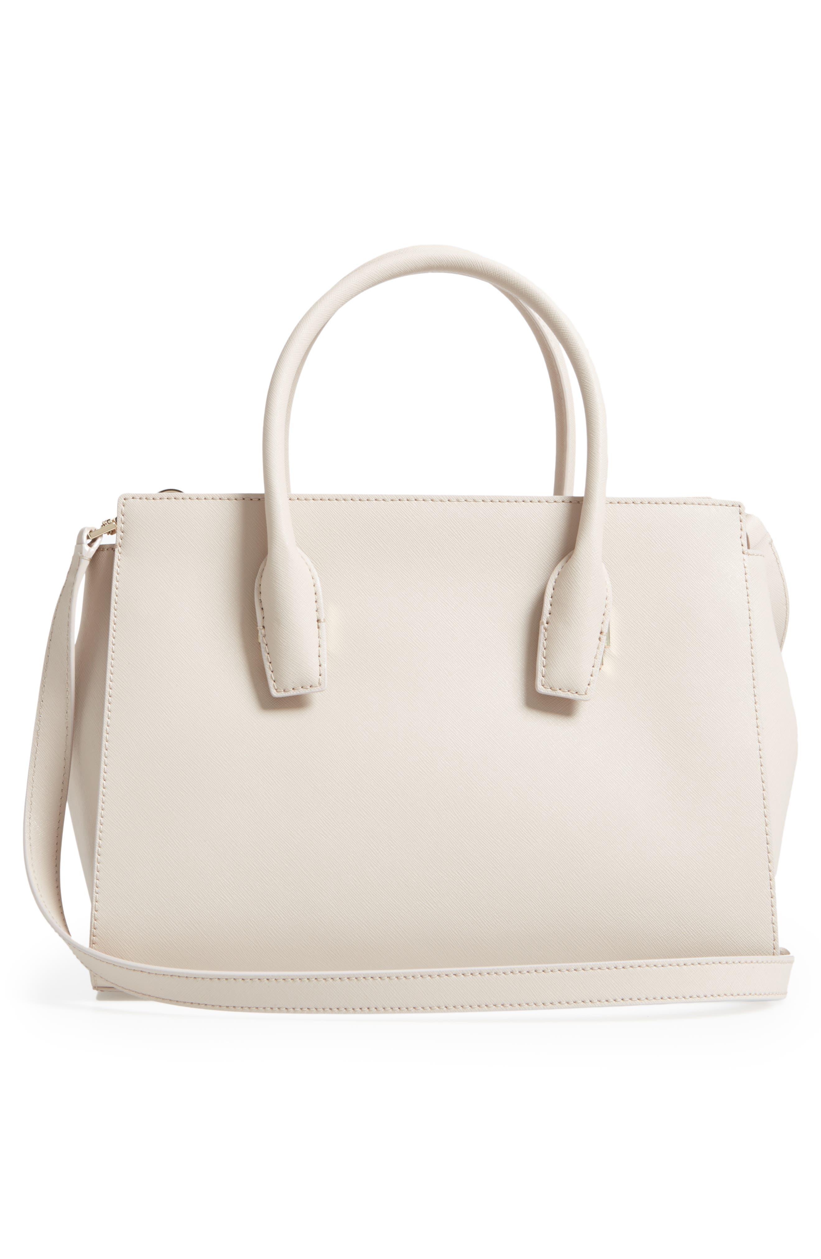 make it mine - candace leather satchel,                             Alternate thumbnail 6, color,