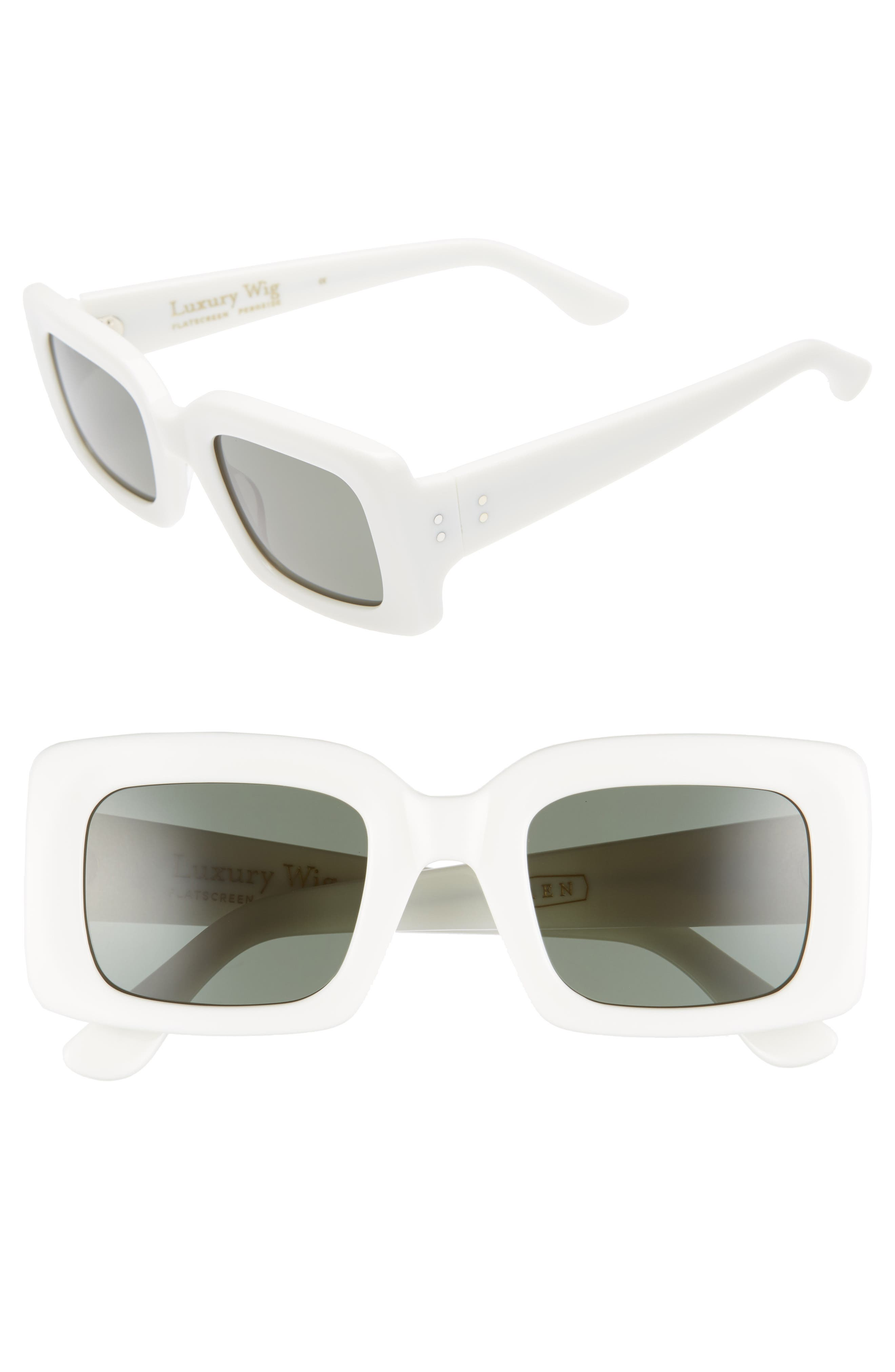 x Alex Knost Luxury Wig Flatscreen 49mm Square Sunglasses,                             Main thumbnail 1, color,                             PEROXIDE