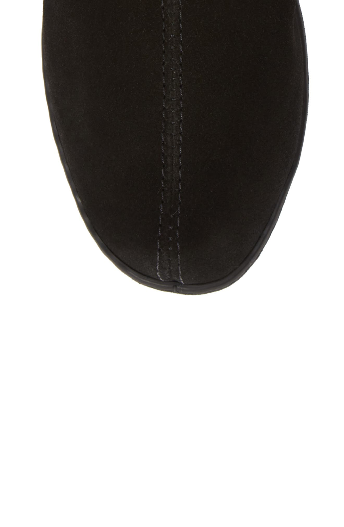 Sheepskin Mule Slipper,                             Alternate thumbnail 5, color,                             BLACK SUEDE