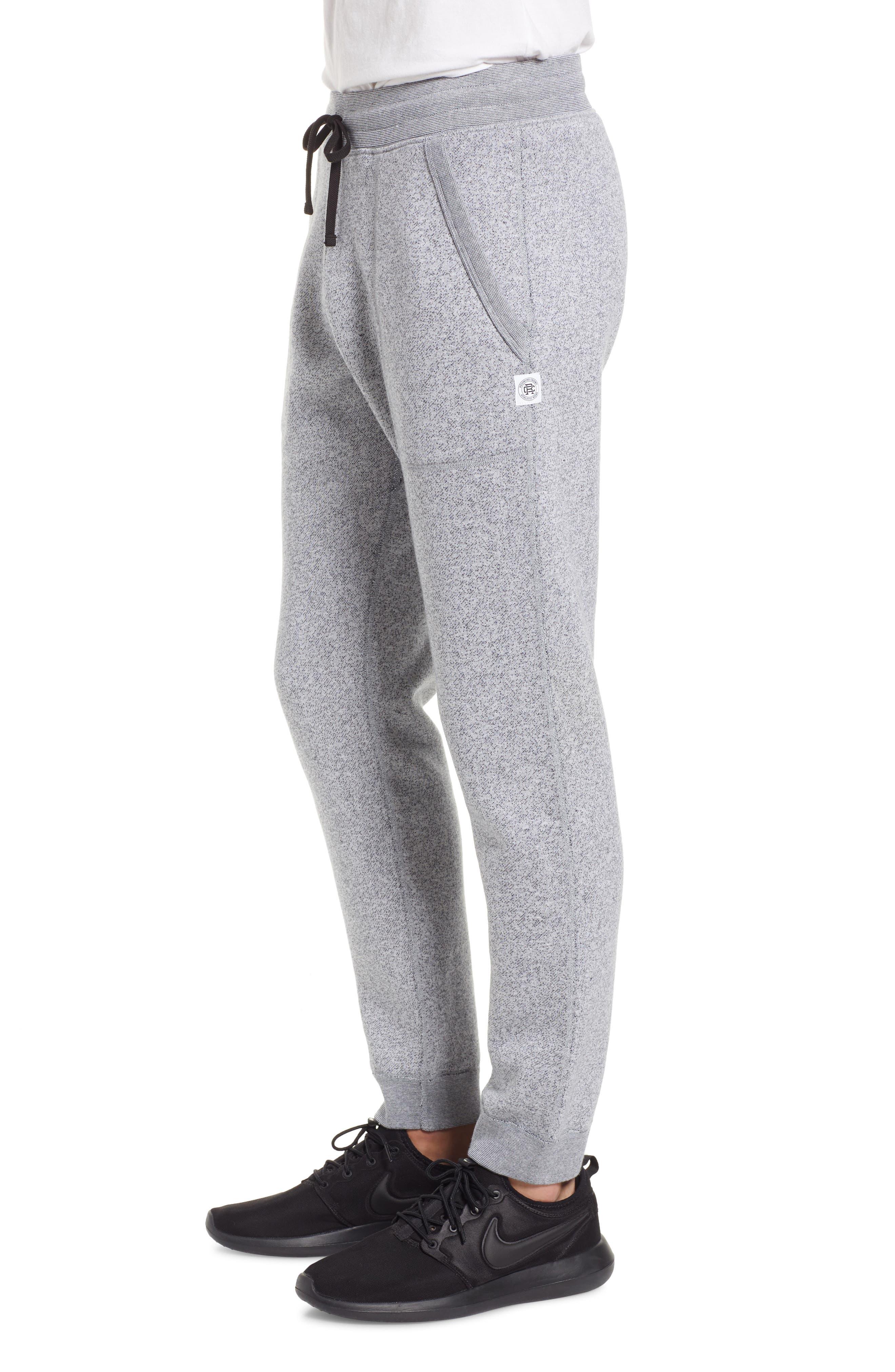 Tiger Slim Jogger Sweatpants,                             Alternate thumbnail 3, color,                             WHITE