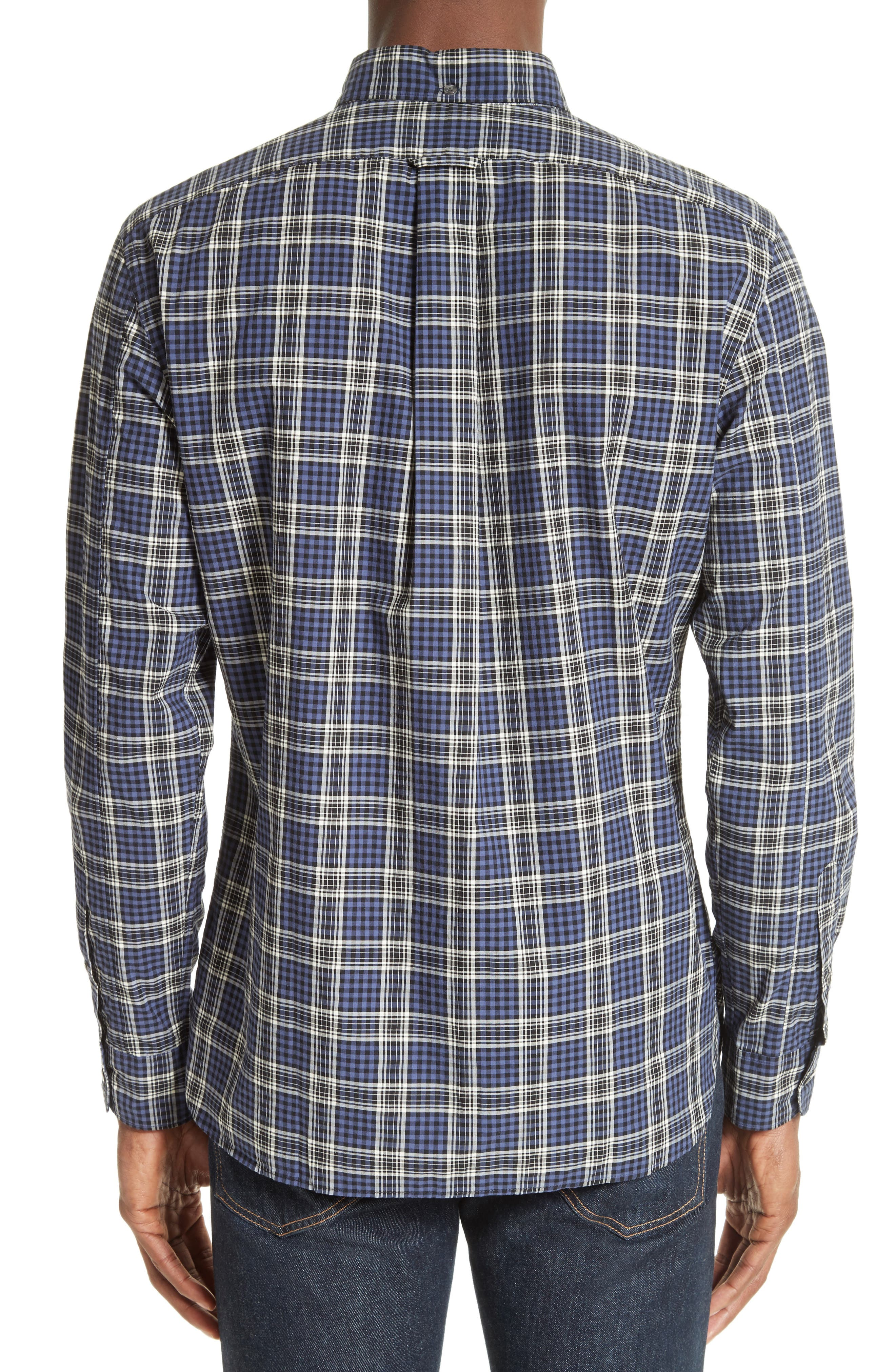 Trim Fit Plaid Sport Shirt,                             Alternate thumbnail 2, color,                             400