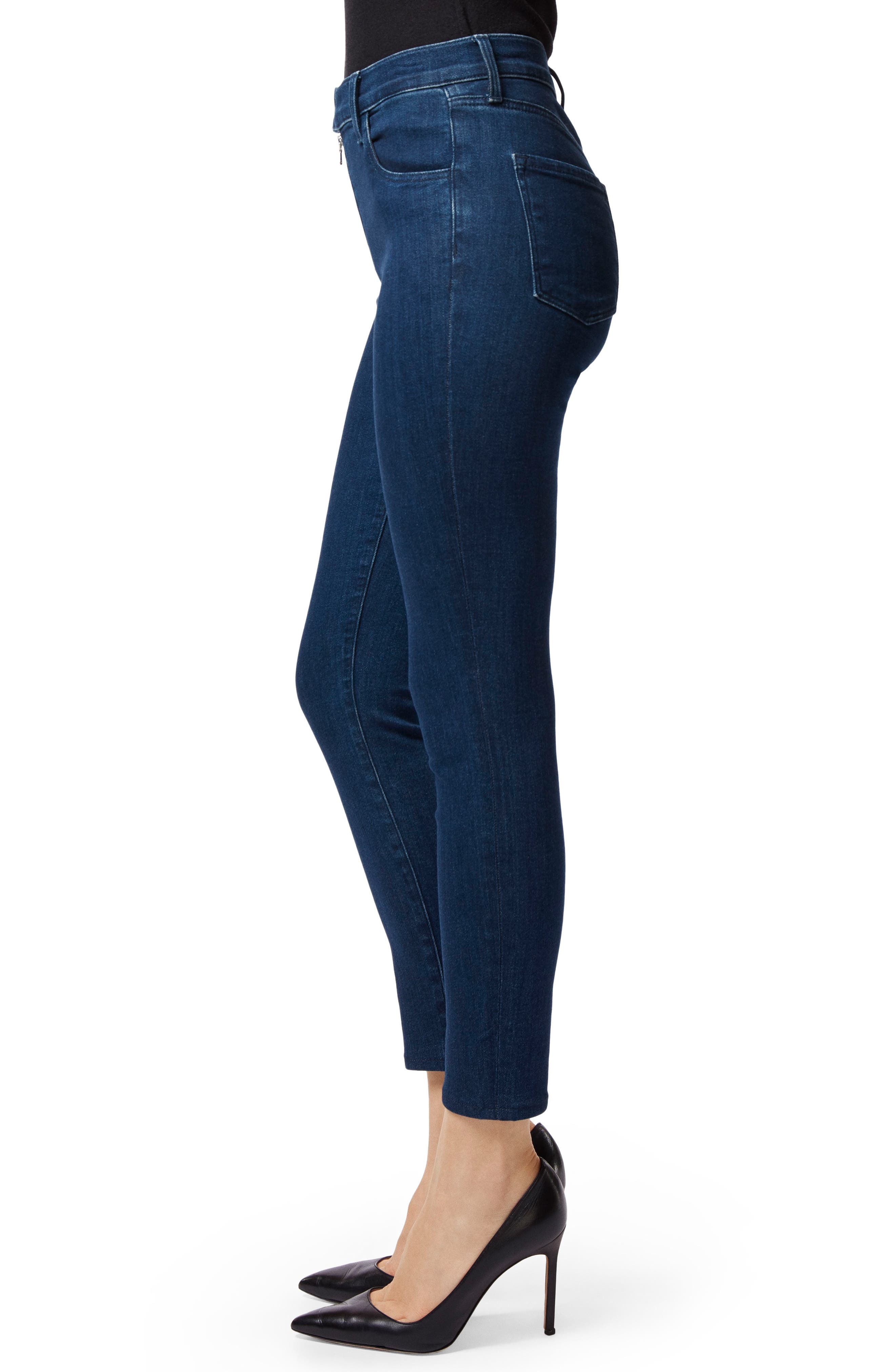 Alana Exposed Zip High Waist Ankle Skinny Jeans,                             Alternate thumbnail 3, color,                             439