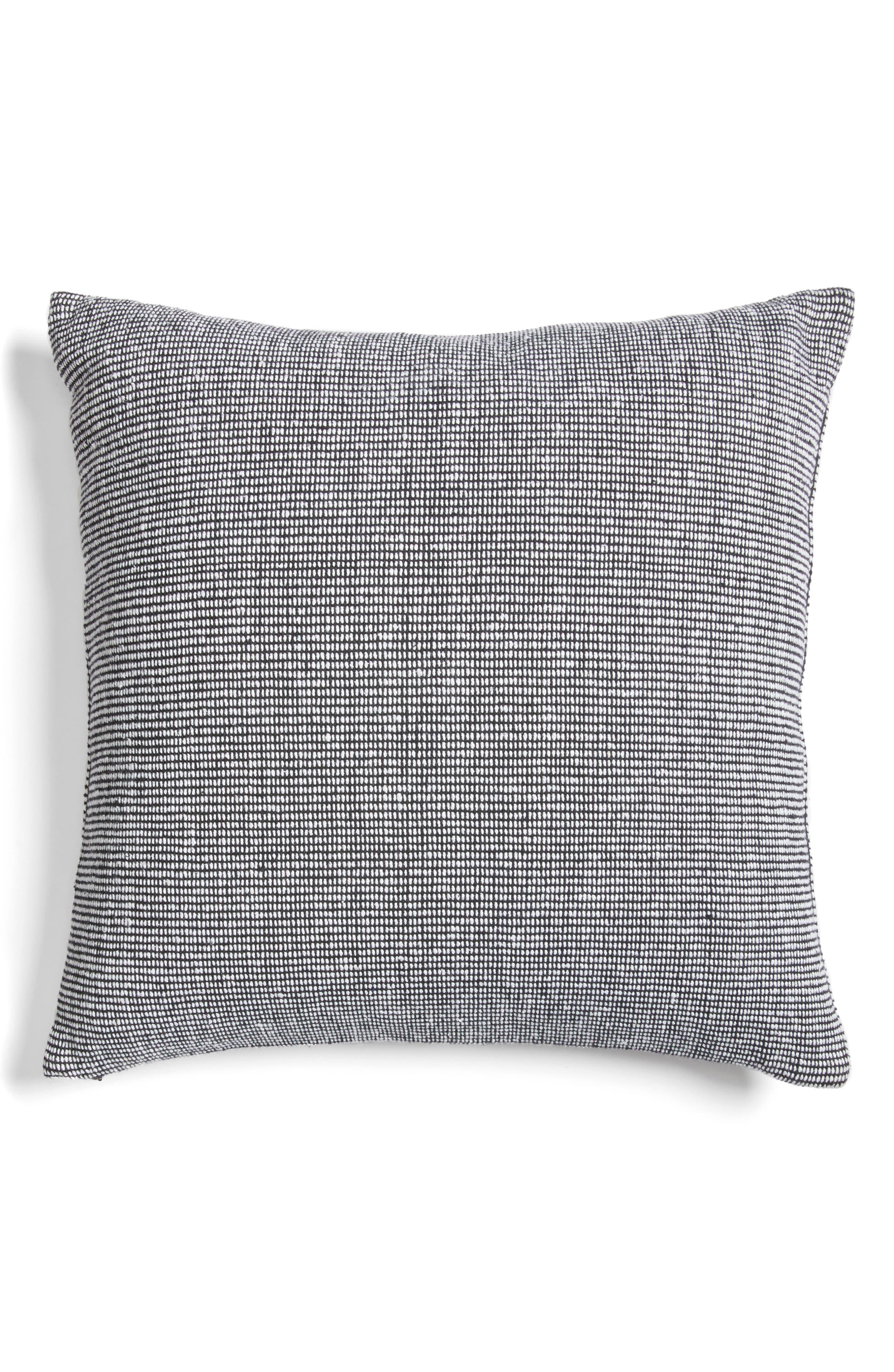 Structure Pillow,                             Main thumbnail 1, color,                             BLACK/ WHITE