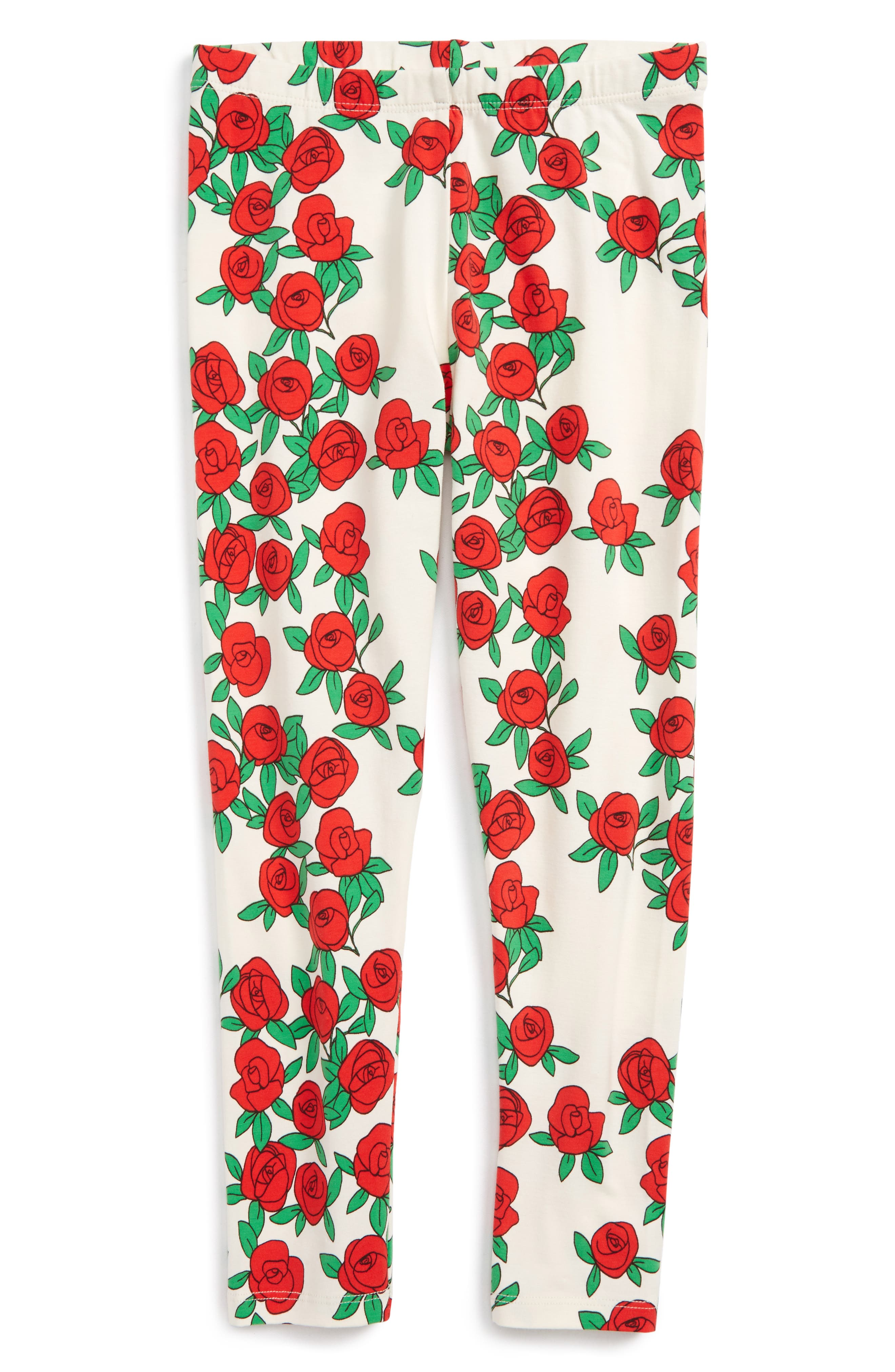 Rose Print Leggings,                         Main,                         color, 901
