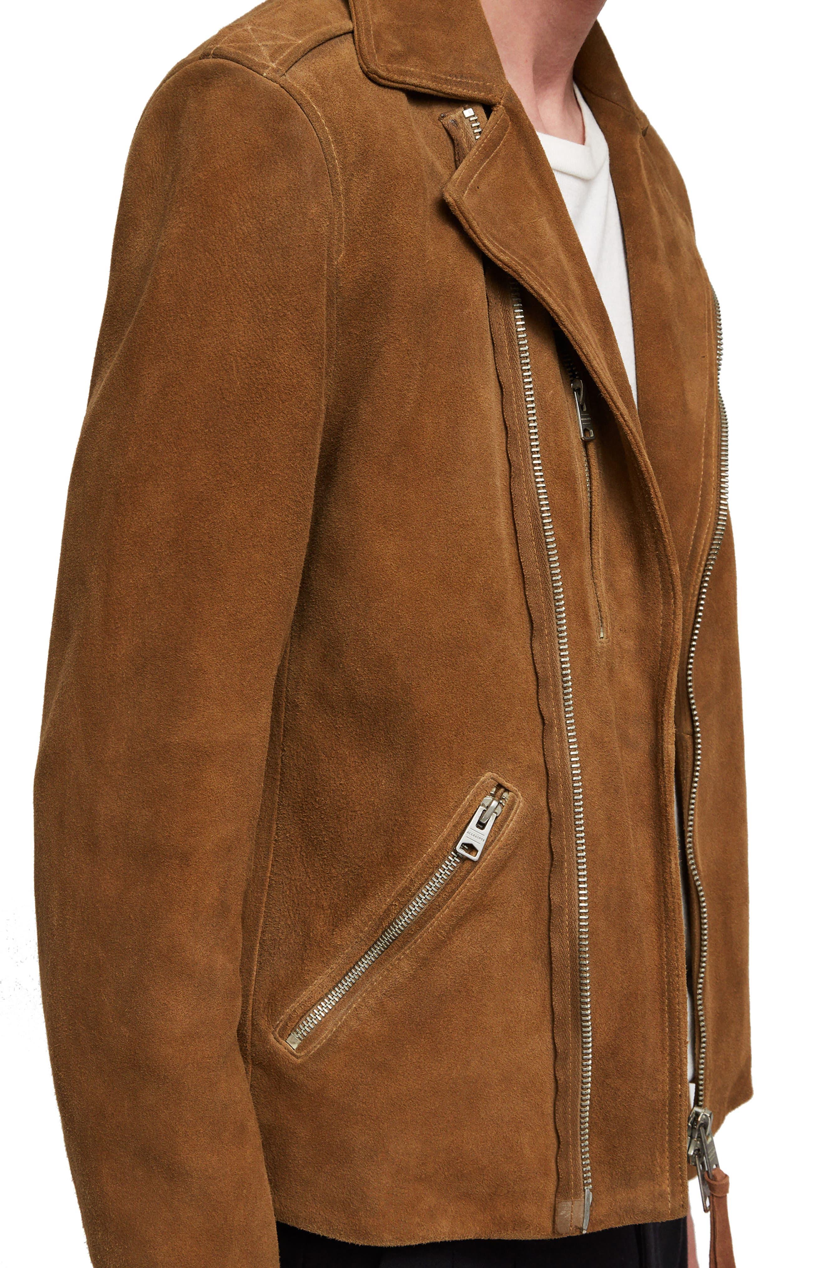 Judd Slim Fit Leather Biker Jacket,                             Alternate thumbnail 4, color,                             219