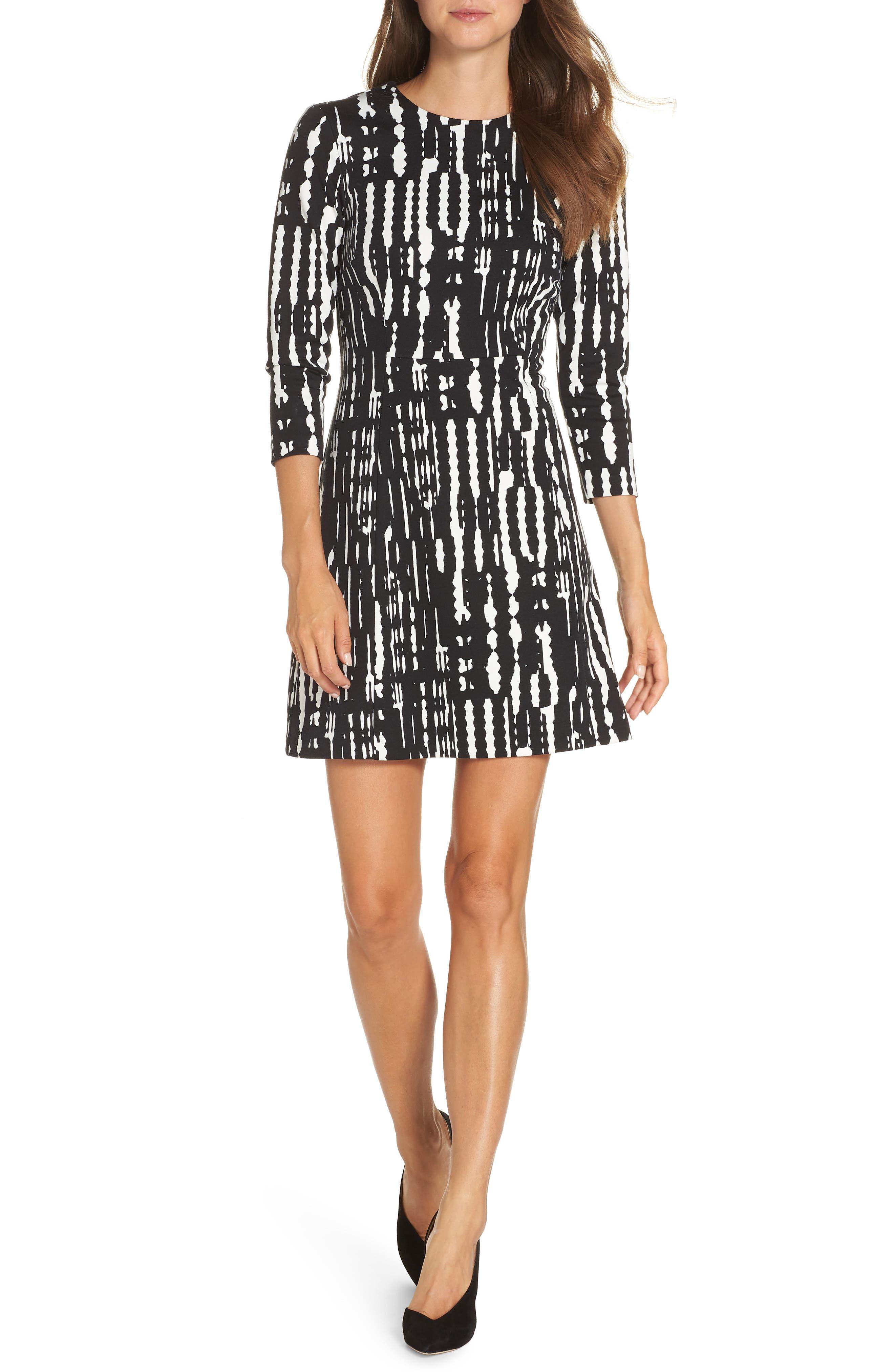 Leoti Morelia Stripe Dress,                         Main,                         color, 001