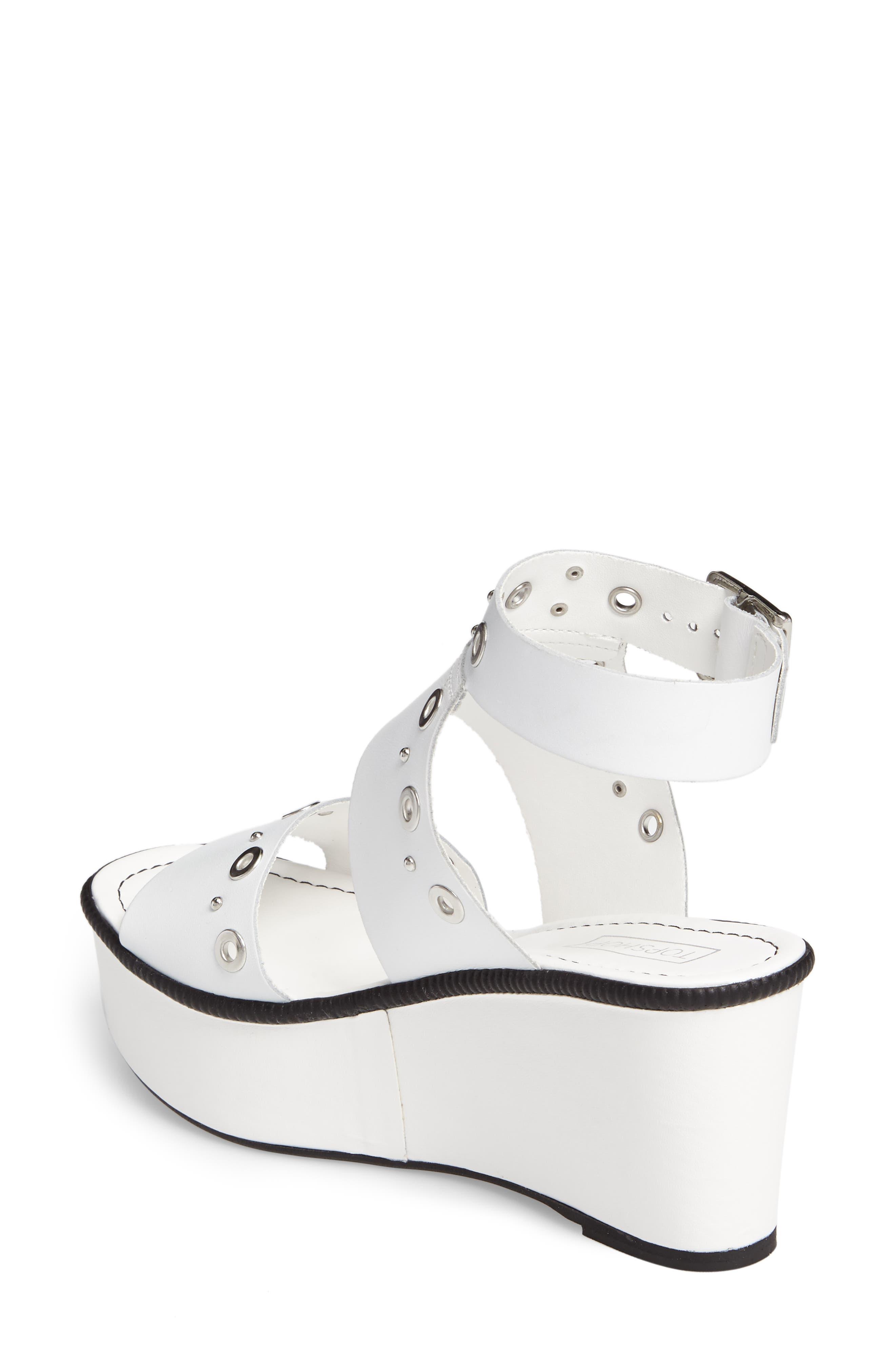 Wizz Grommeted Platform Wedge Sandal,                             Alternate thumbnail 4, color,