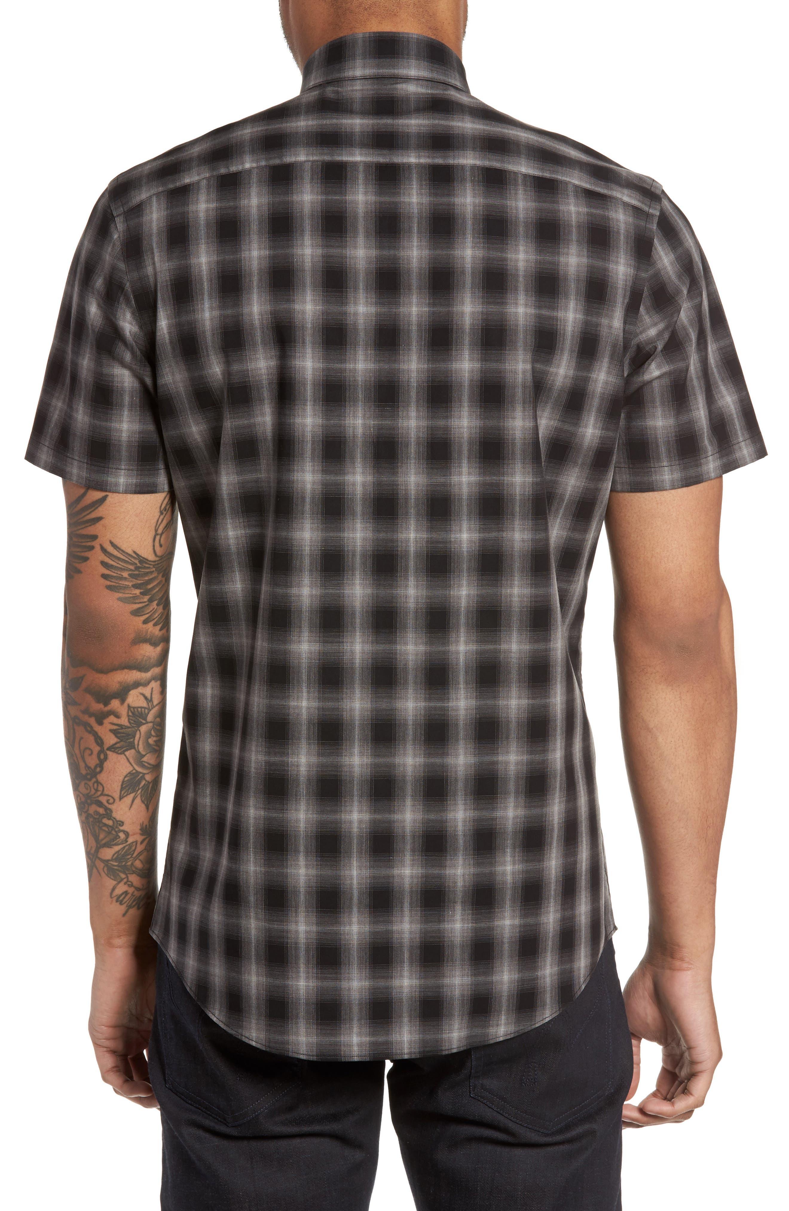 Plaid Non-Iron Sport Shirt,                             Alternate thumbnail 2, color,                             001