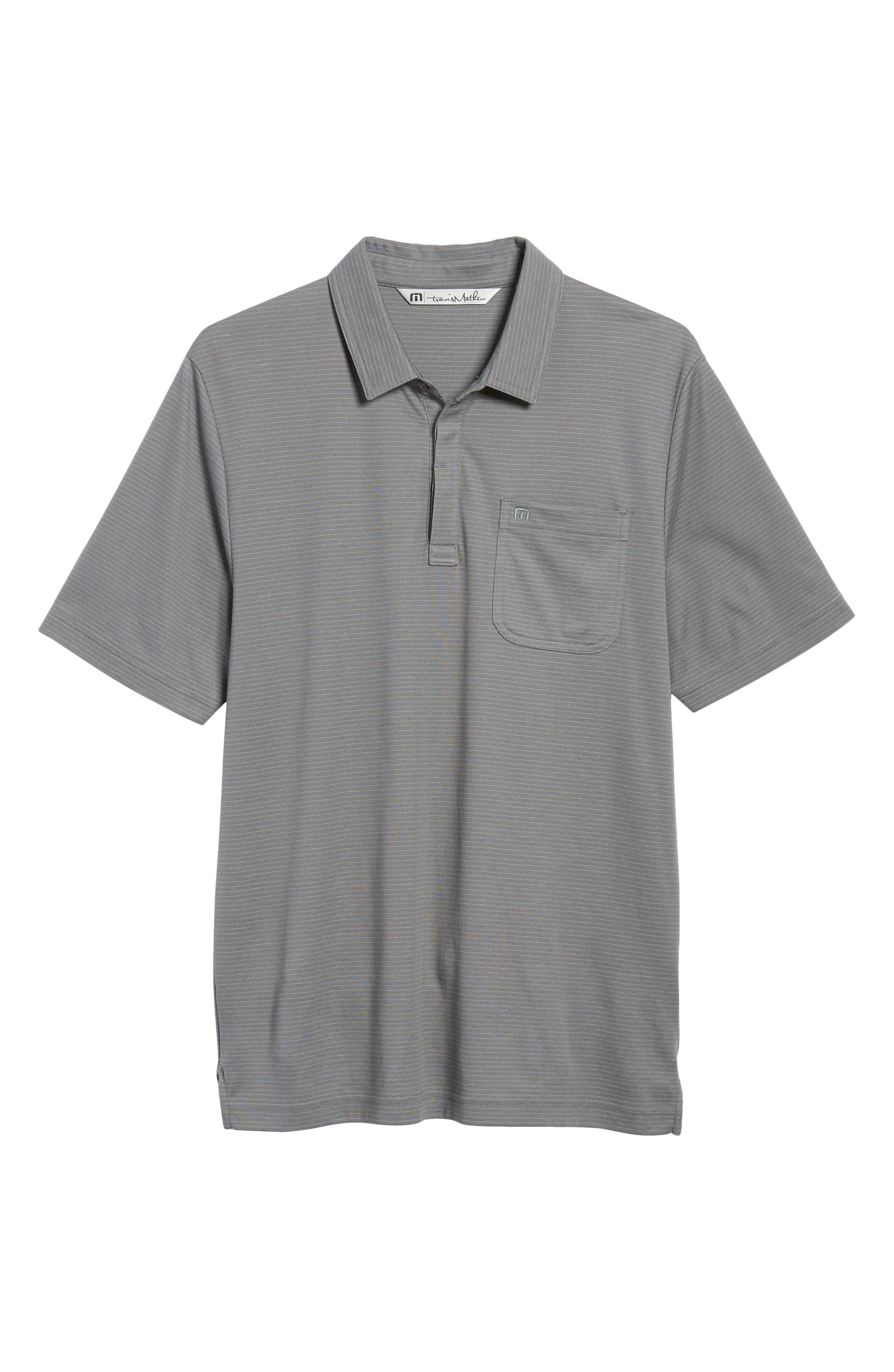 Watty Stripe Cotton Blend Polo,                             Alternate thumbnail 6, color,                             020