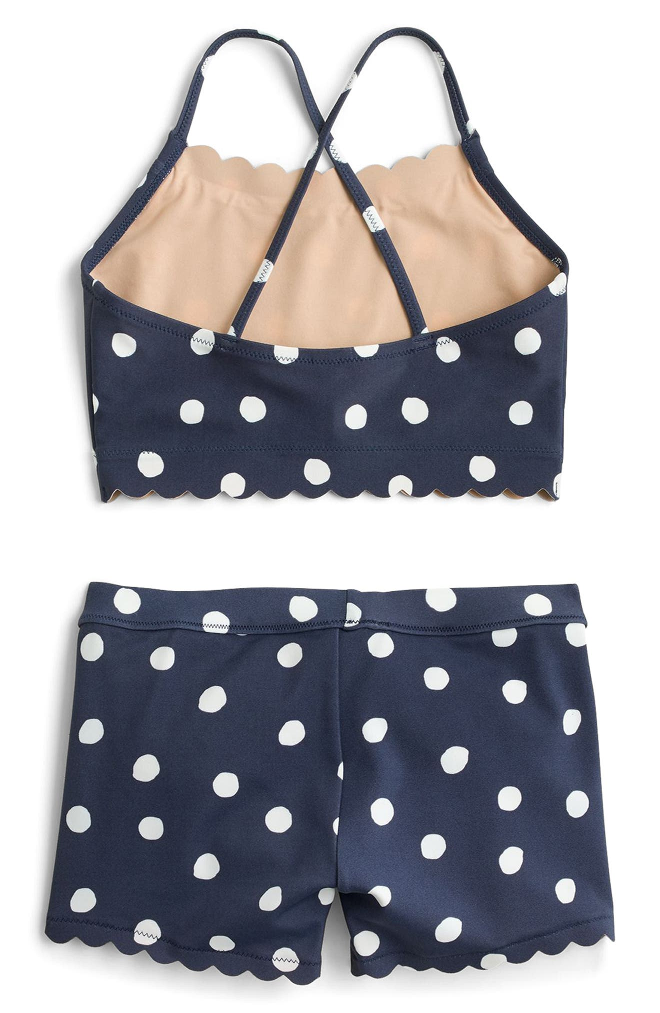 Polka Dot Two-Piece Swimsuit,                             Alternate thumbnail 2, color,                             400