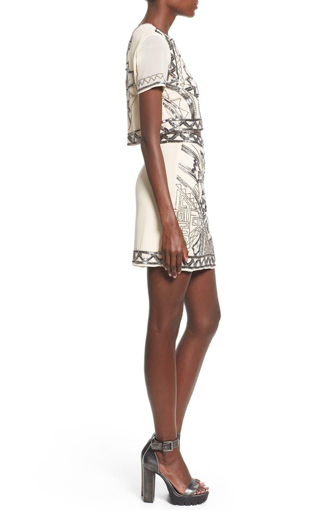 Embellished Miniskirt,                             Alternate thumbnail 4, color,                             270