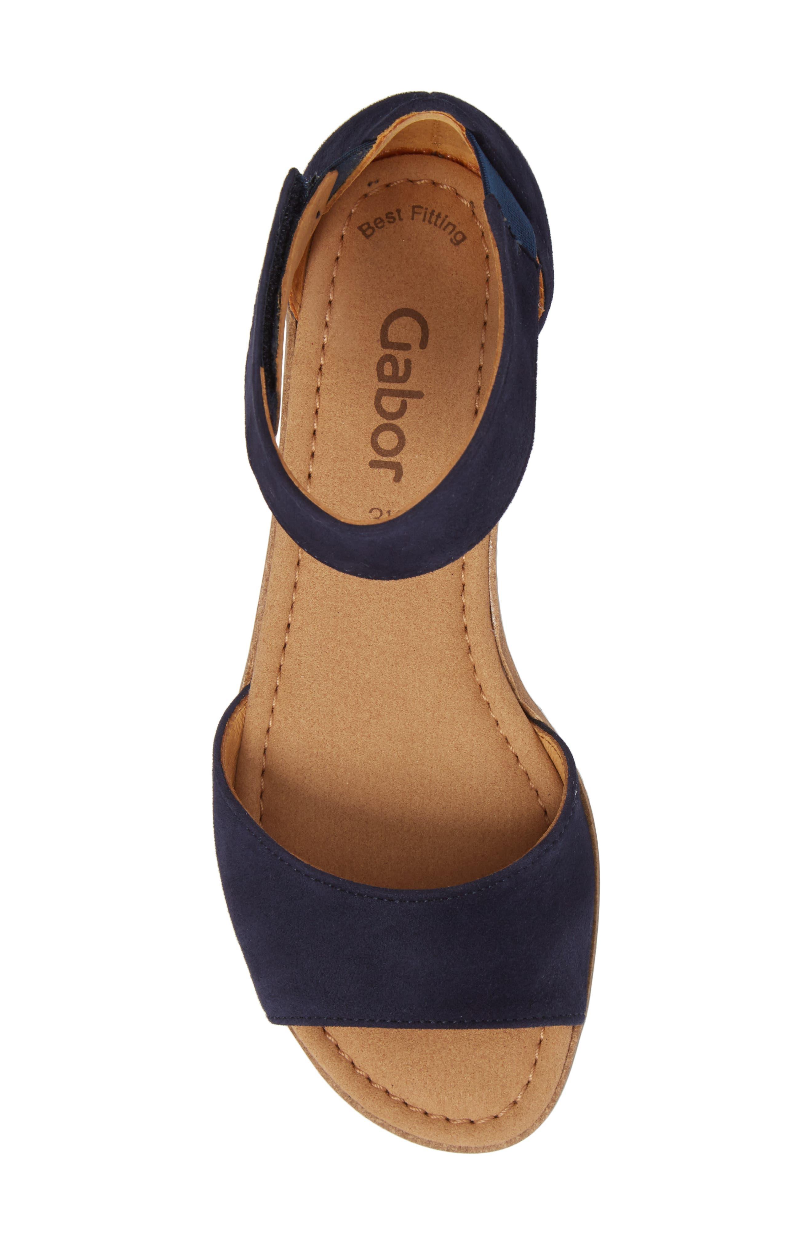 Ankle Strap Sandal,                             Alternate thumbnail 5, color,                             BLUE SUEDE
