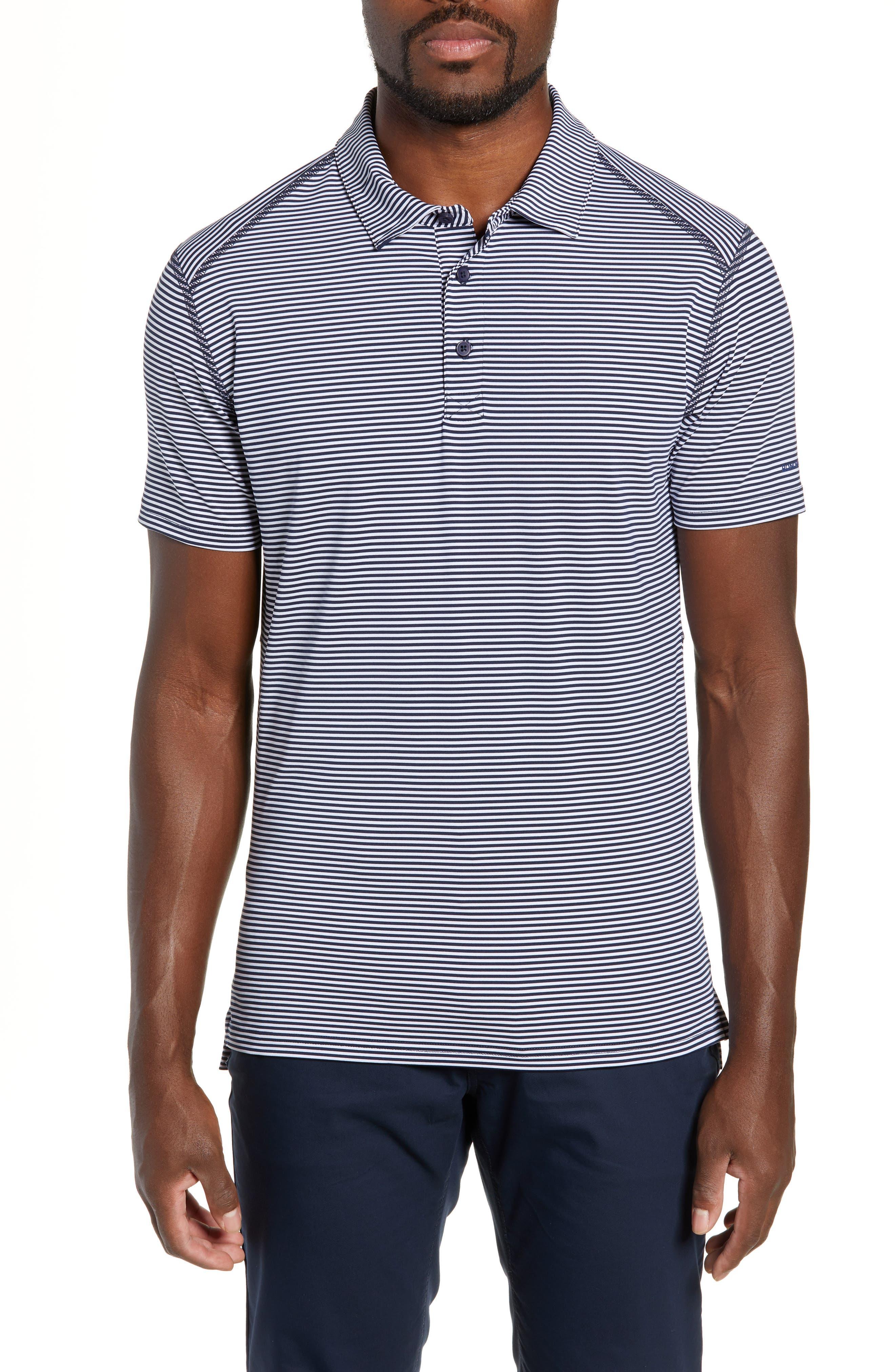 Flatiron Slim Fit Jacquard Jersey Polo,                             Main thumbnail 1, color,                             NAVY/ WHITE
