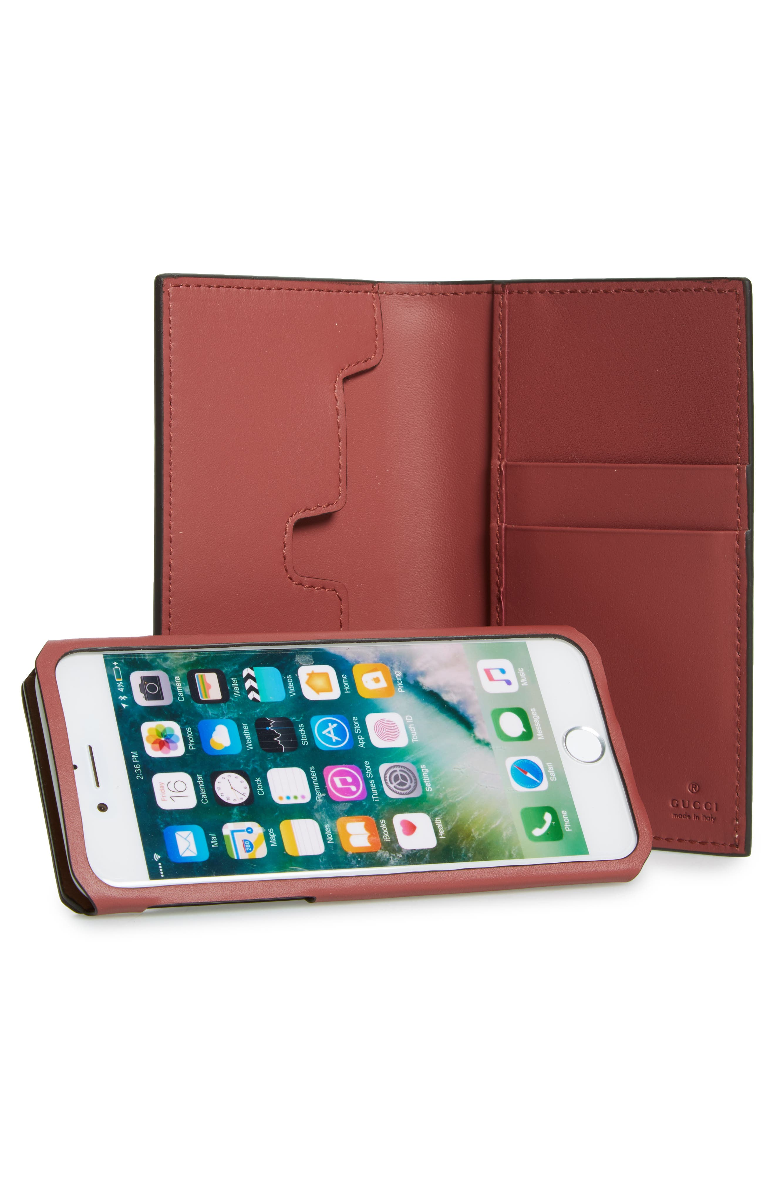 GG Blooms iPhone 7 Folio,                             Alternate thumbnail 3, color,                             650