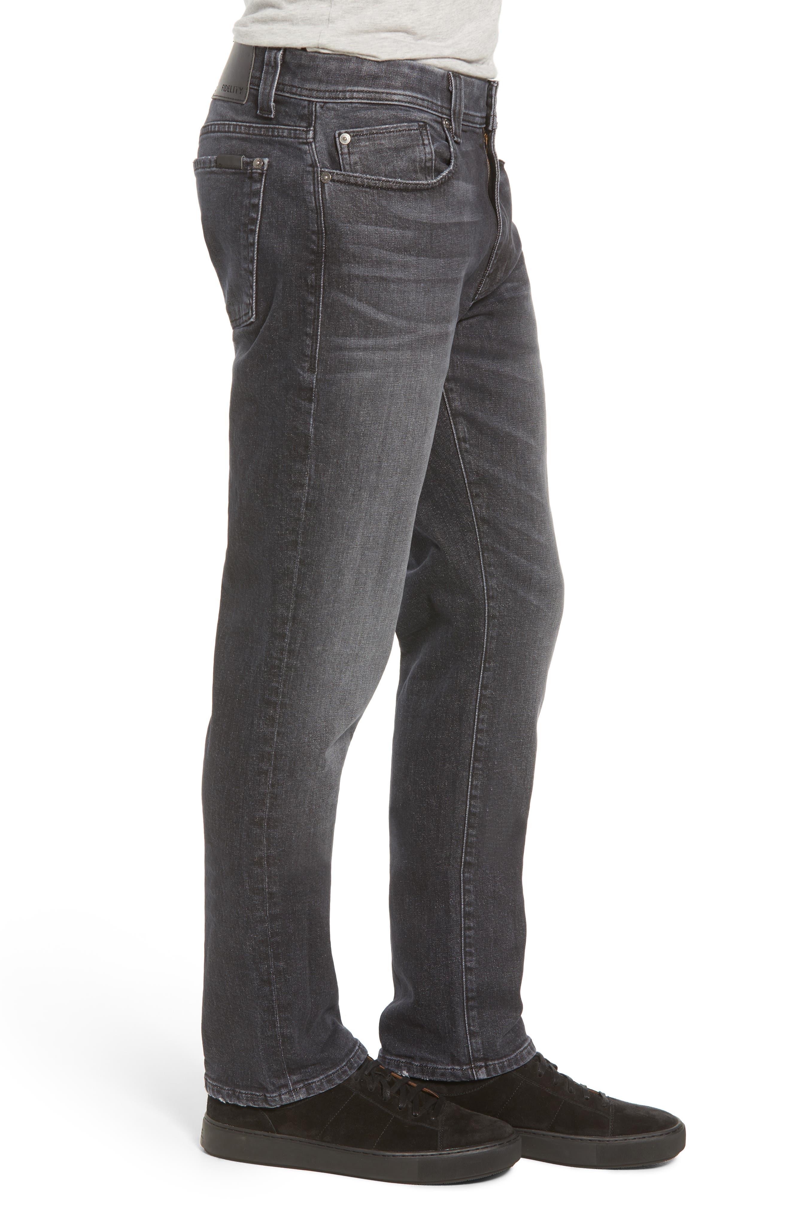 Jimmy Slim Straight Leg Jeans,                             Alternate thumbnail 3, color,                             RAVEN VINTAGE