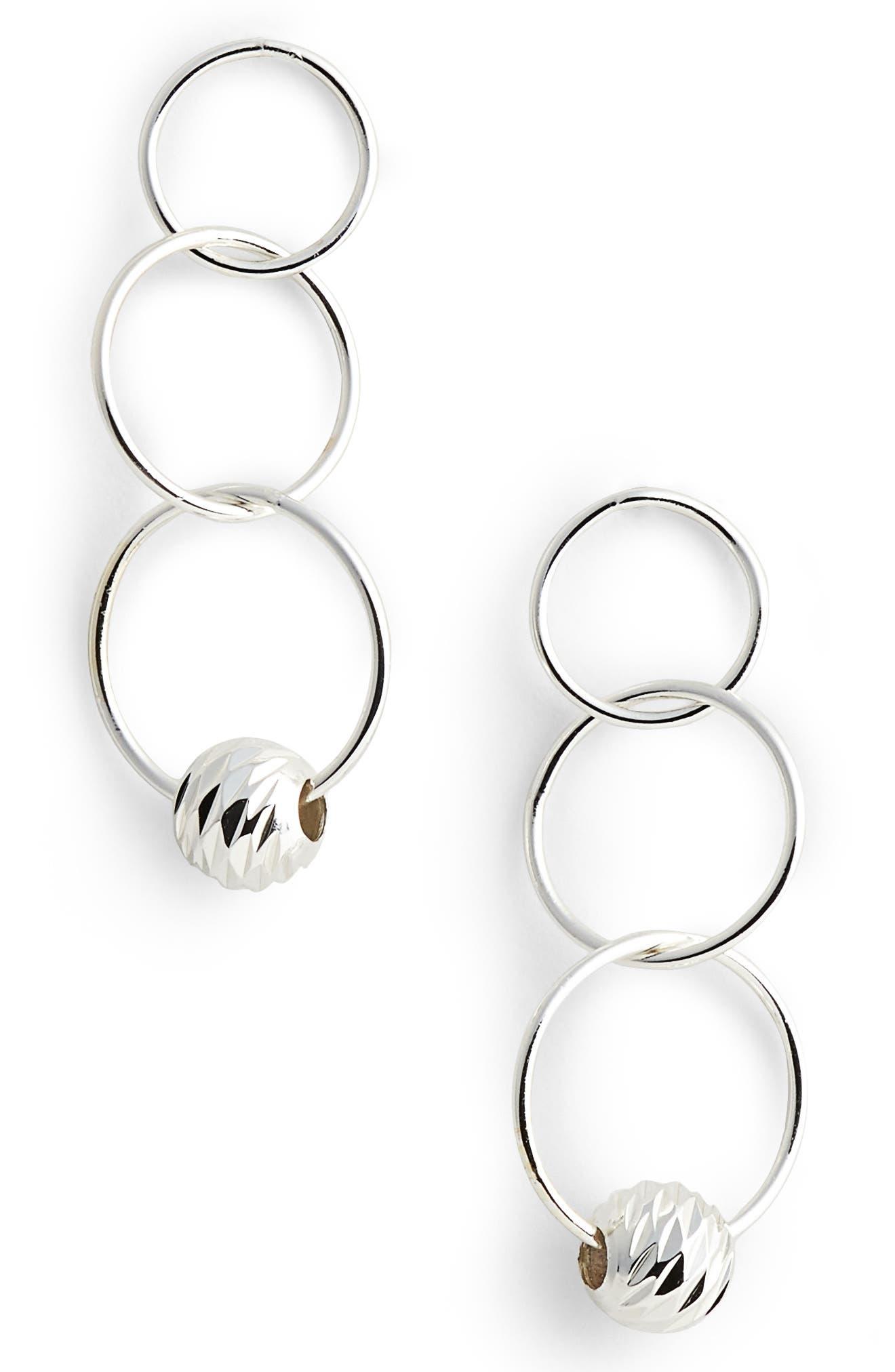 Triple Drop Earrings,                             Main thumbnail 1, color,