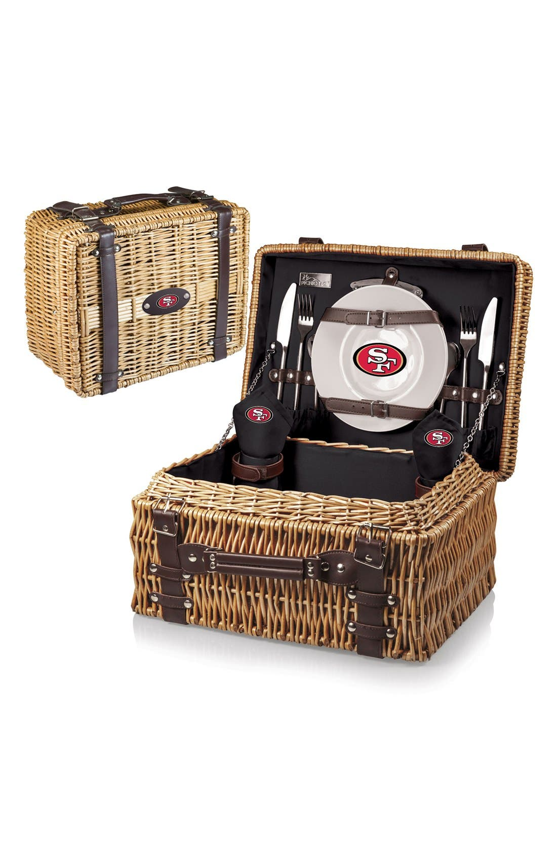 'NFL - Champion' Wicker Picnic Basket,                         Main,                         color, 020