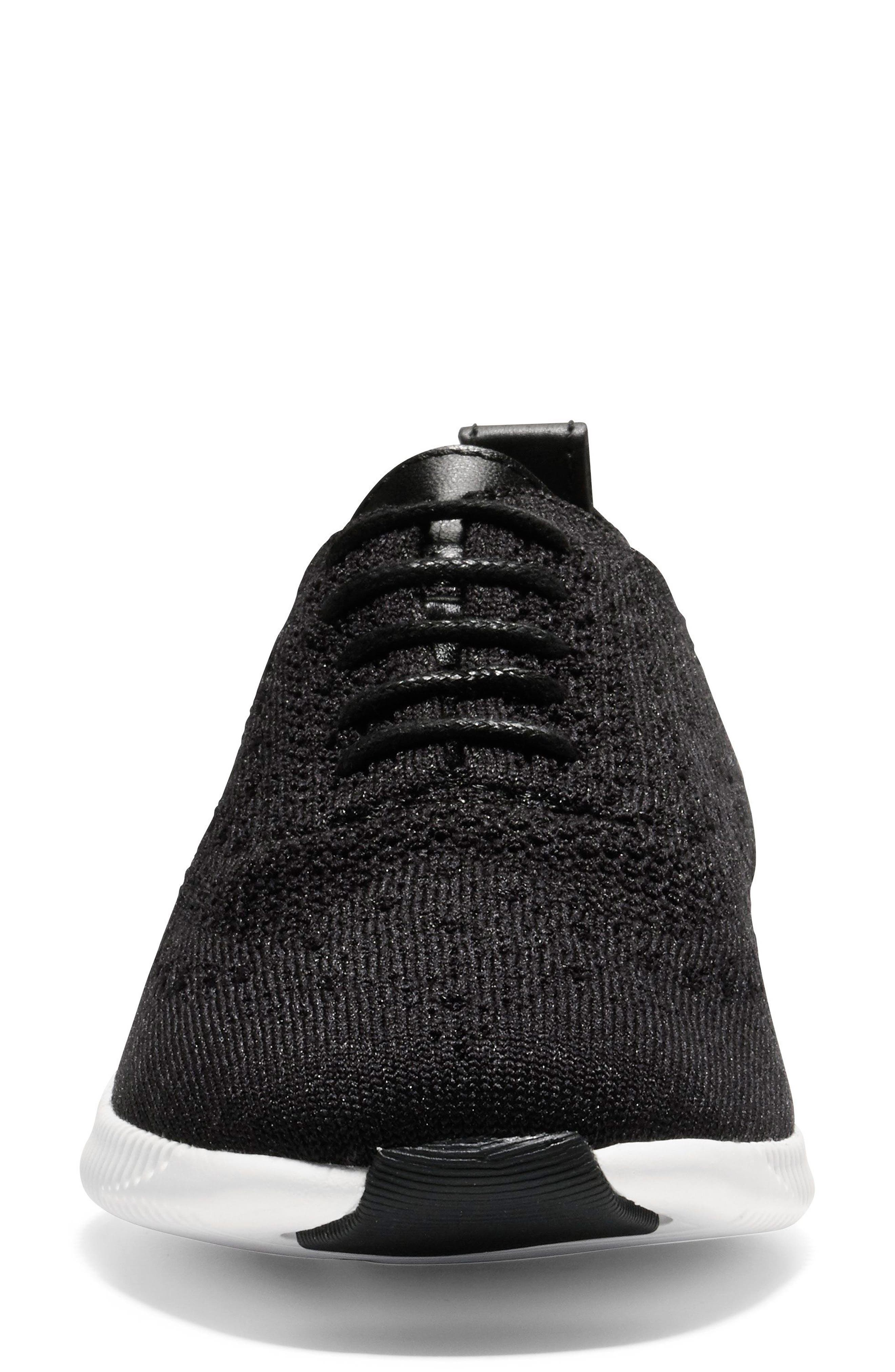 2.ZERØGRAND Stitchlite Wingtip Sneaker,                             Alternate thumbnail 4, color,                             001