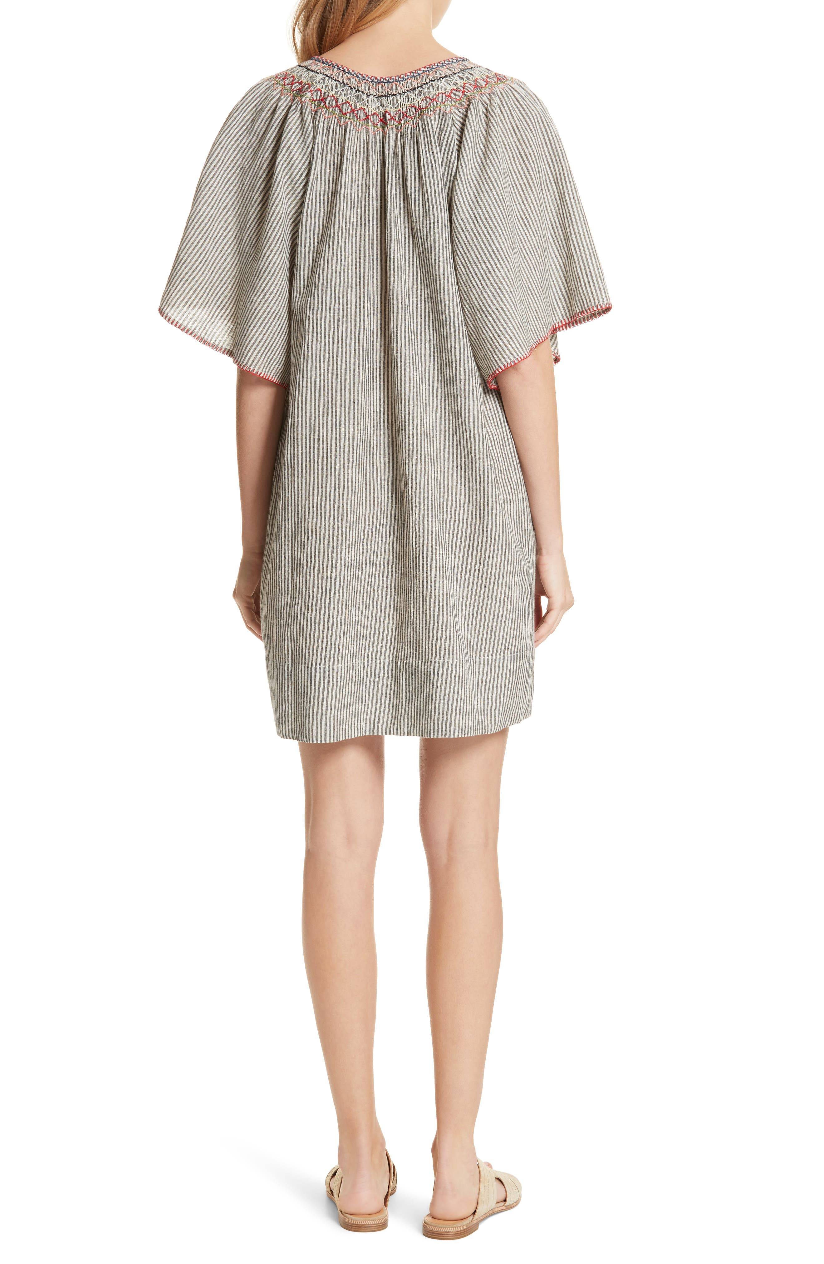 The Butterfly Smock Dress,                             Alternate thumbnail 2, color,                             400