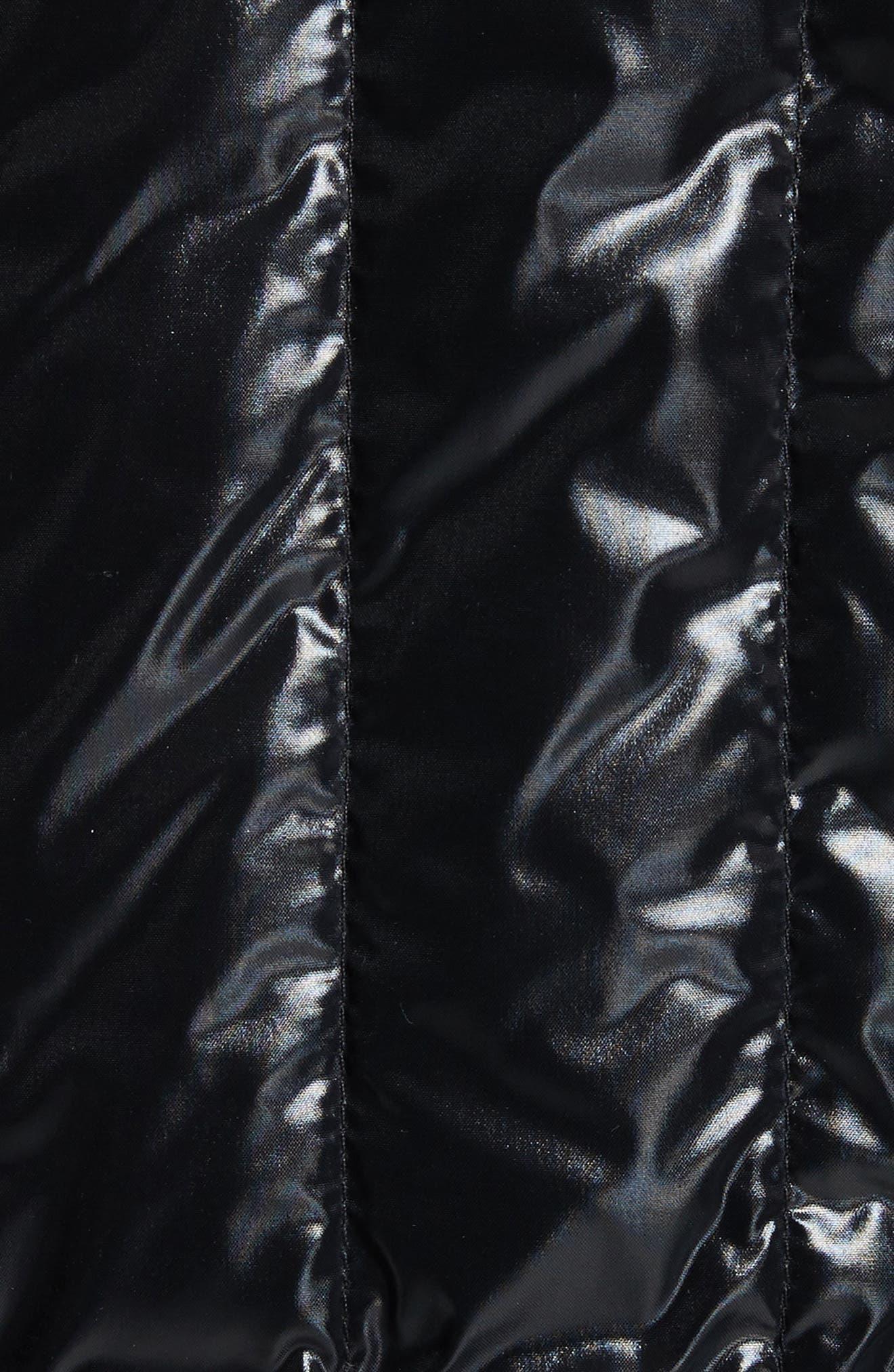 Diren Down Hooded Jacket,                             Alternate thumbnail 6, color,                             BLACK