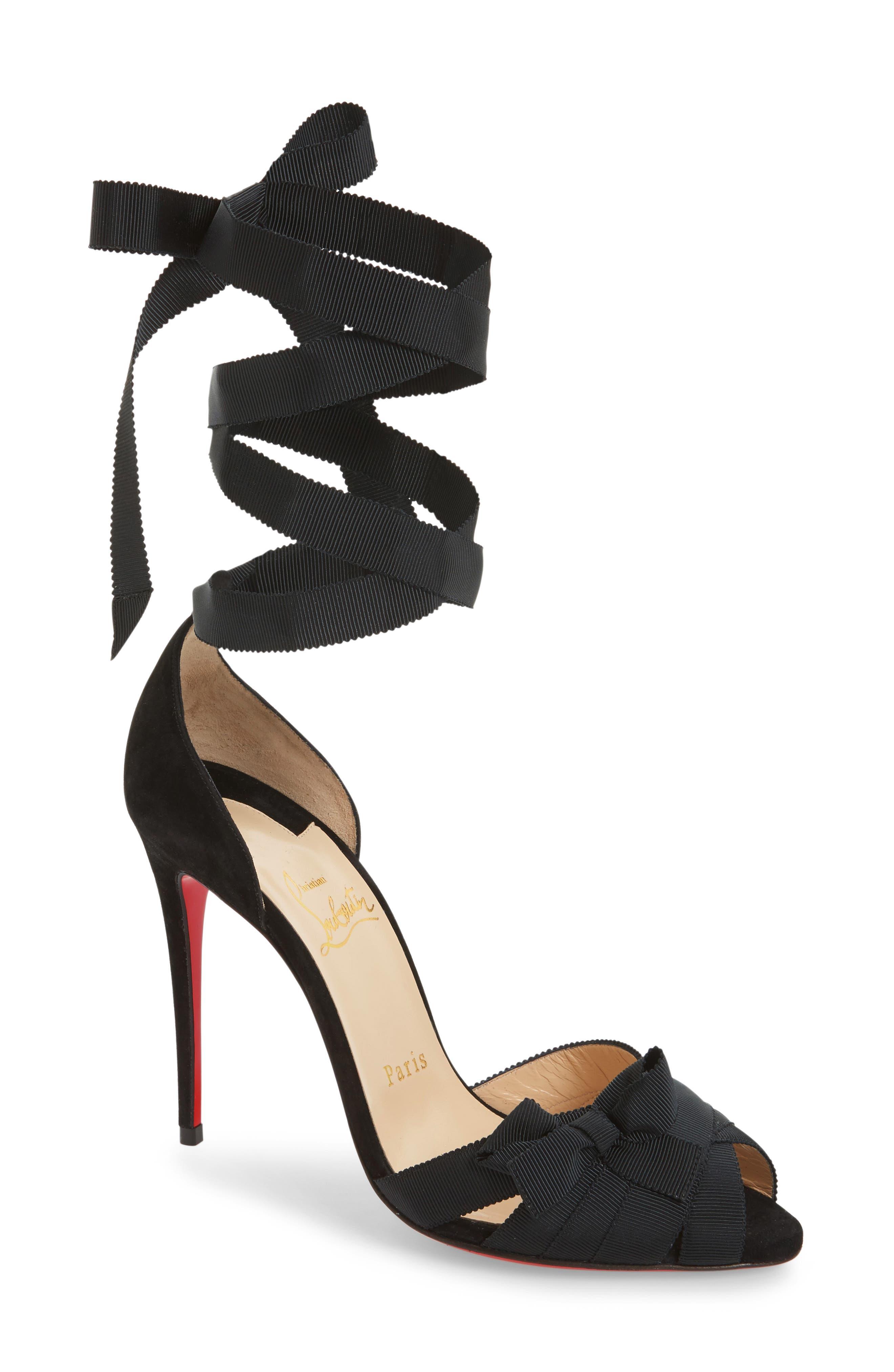 Christeriva Ribbon Sandal,                             Main thumbnail 1, color,                             001