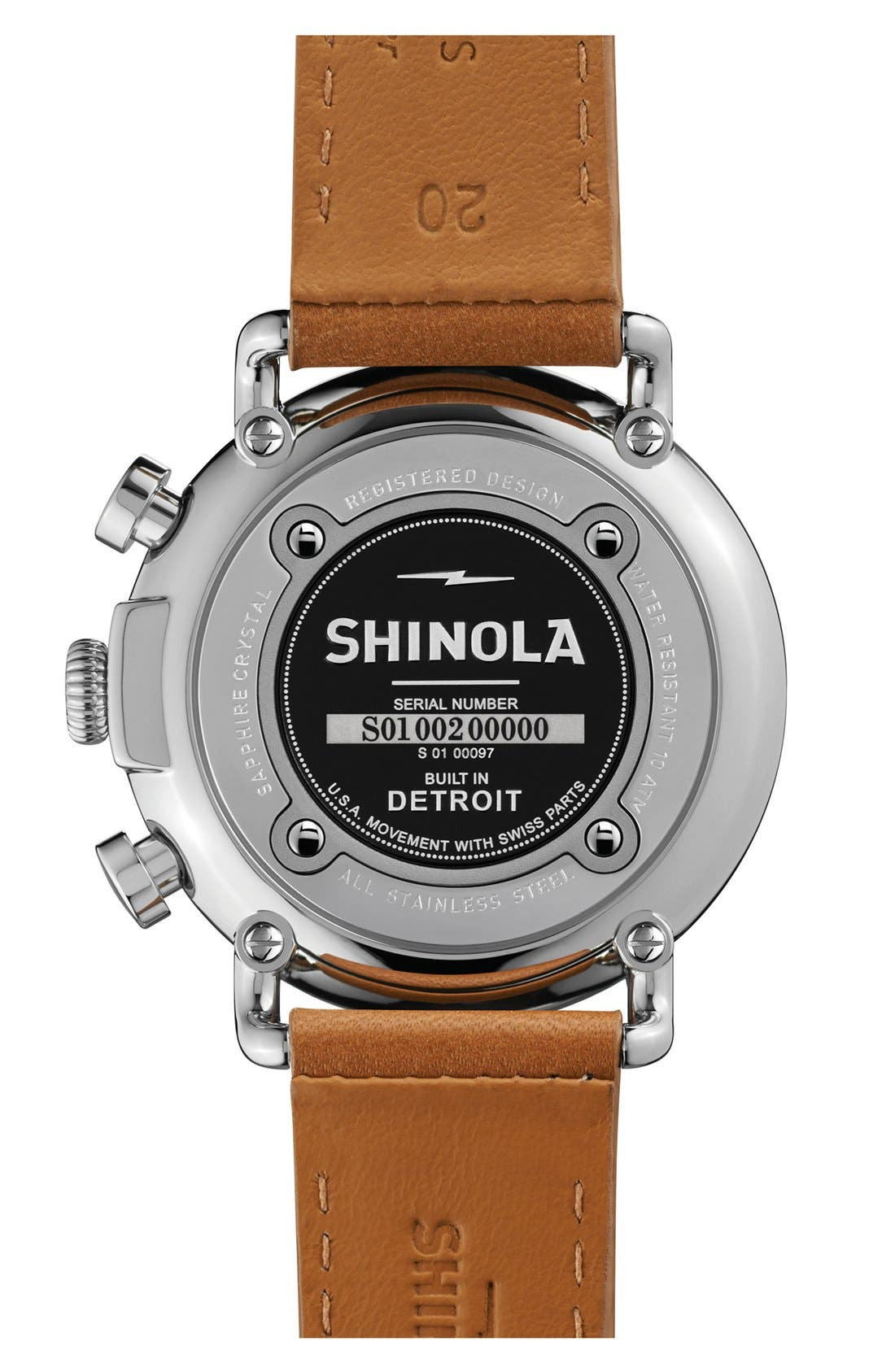 'The Runwell Chrono' Leather Strap Watch, 41mm,                             Alternate thumbnail 18, color,