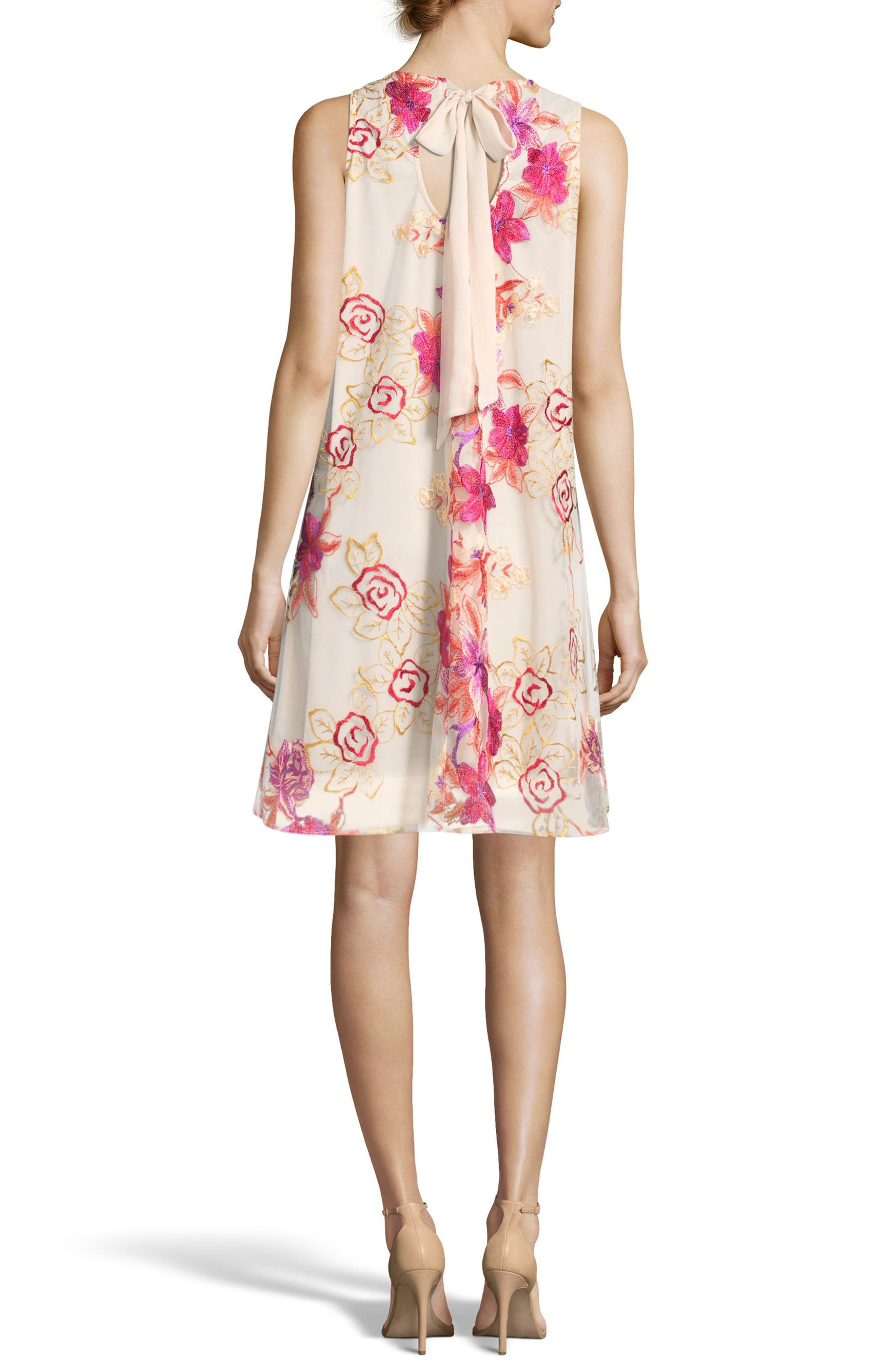 Embroidered Shift Dress,                             Alternate thumbnail 2, color,                             PINK