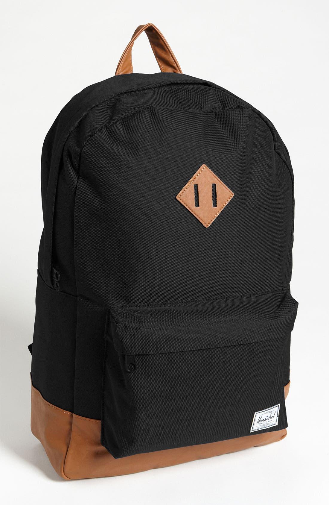 Heritage Backpack,                         Main,                         color, BLACK