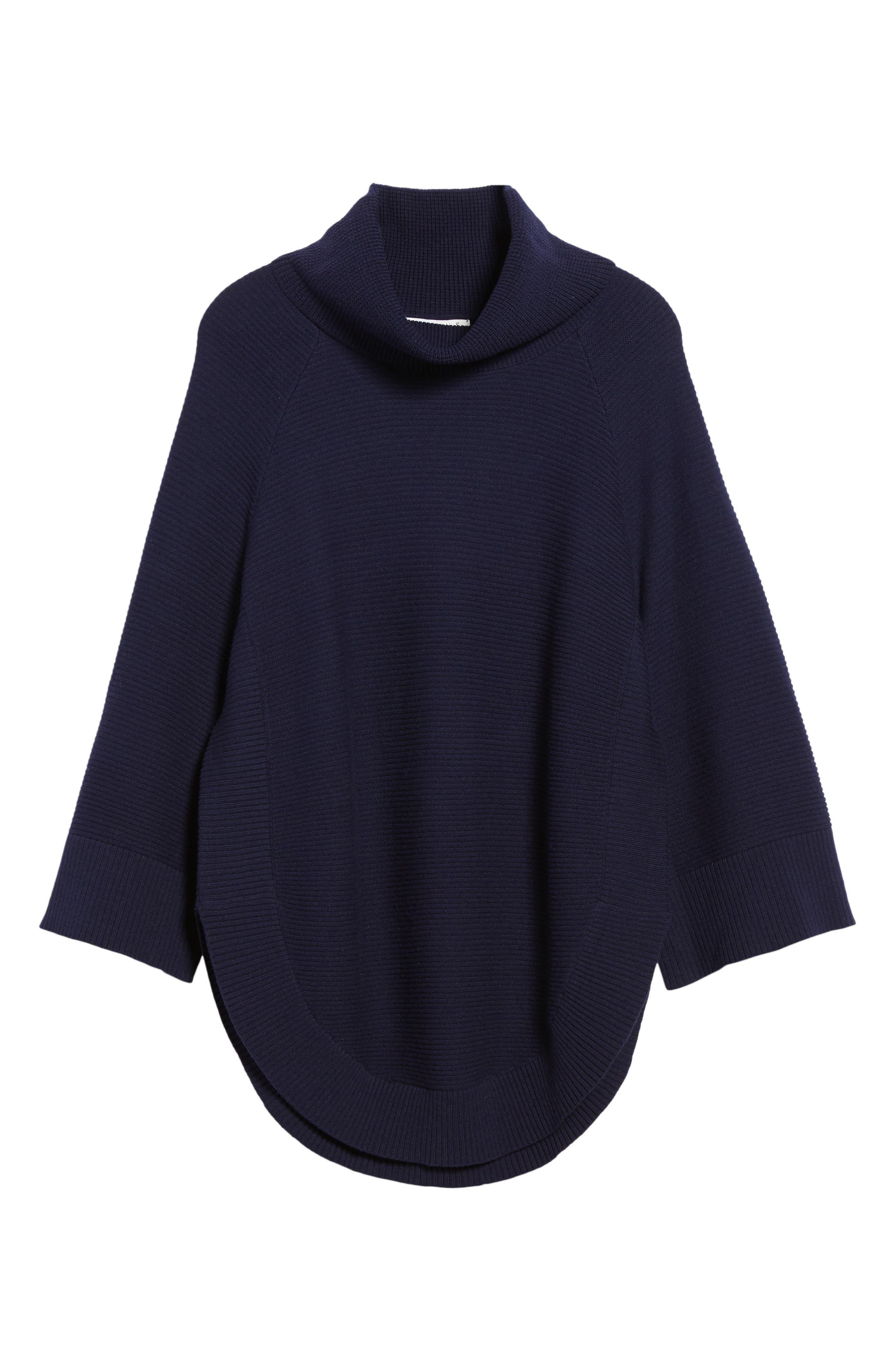 Cowl Neck Shirttail Hem Sweater,                             Alternate thumbnail 17, color,