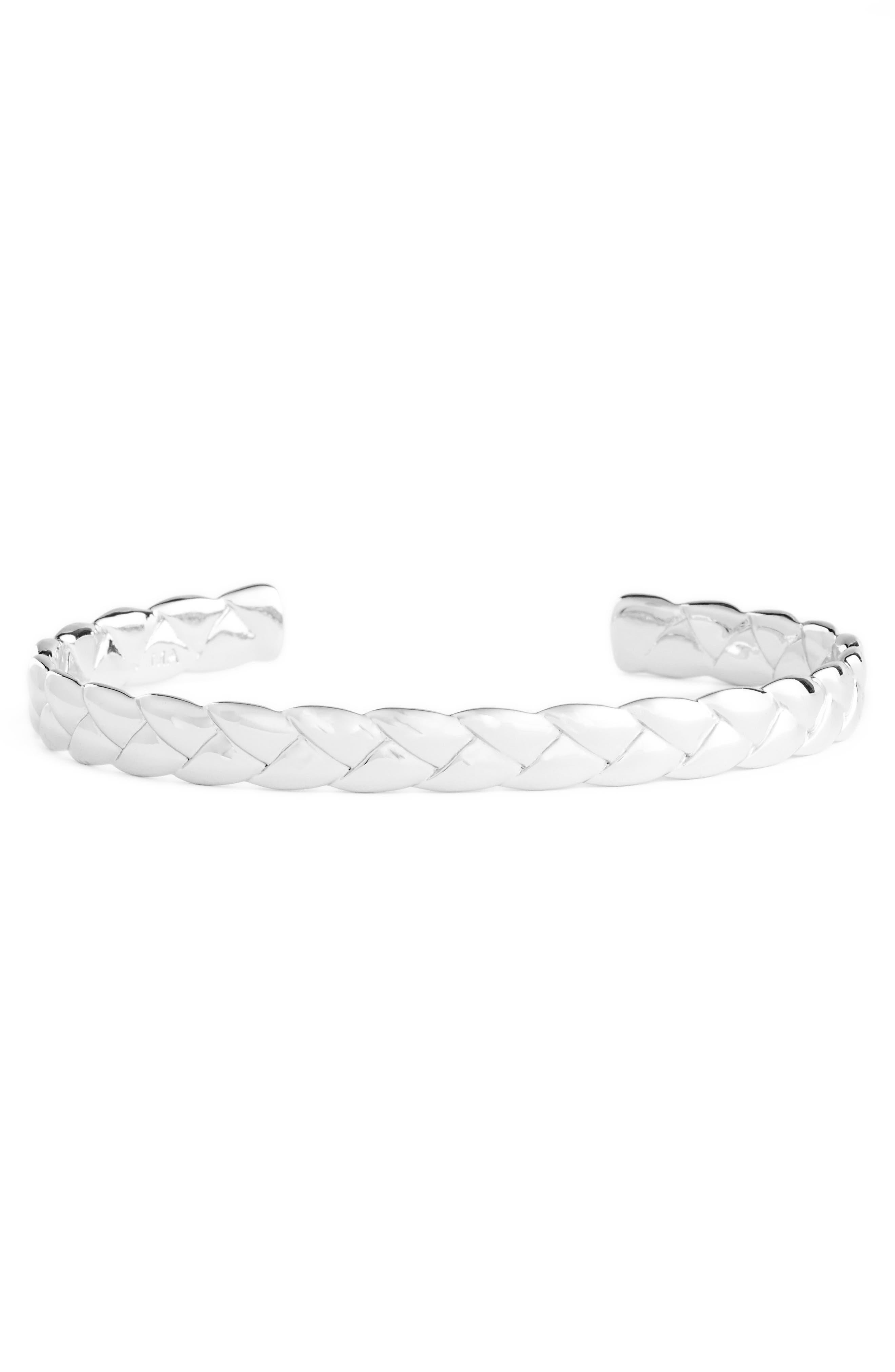 Woven Cuff Bracelet,                         Main,                         color,