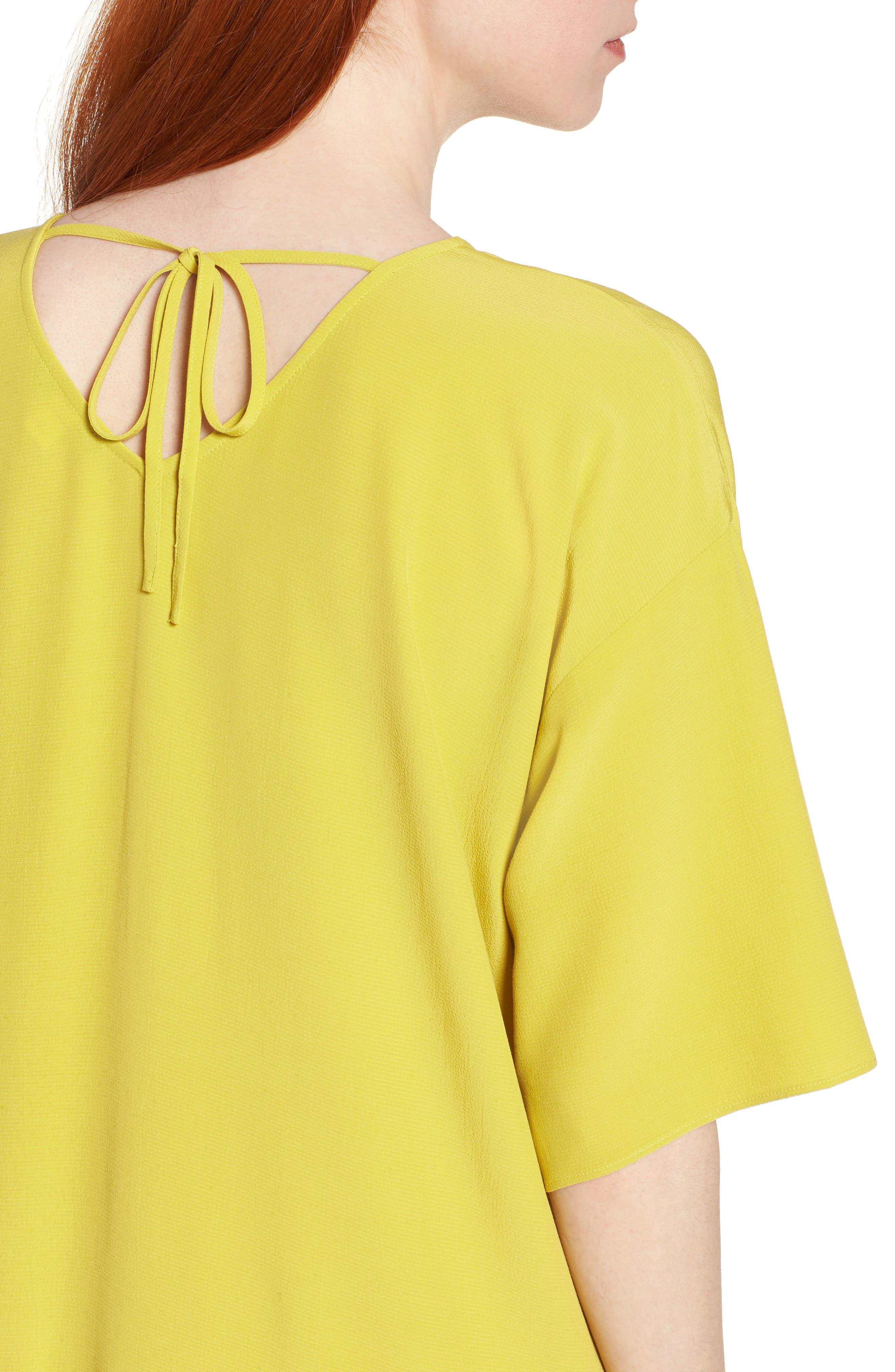 Drop Waist Tencel<sup>®</sup> Lyocell Blend Dress,                             Alternate thumbnail 17, color,