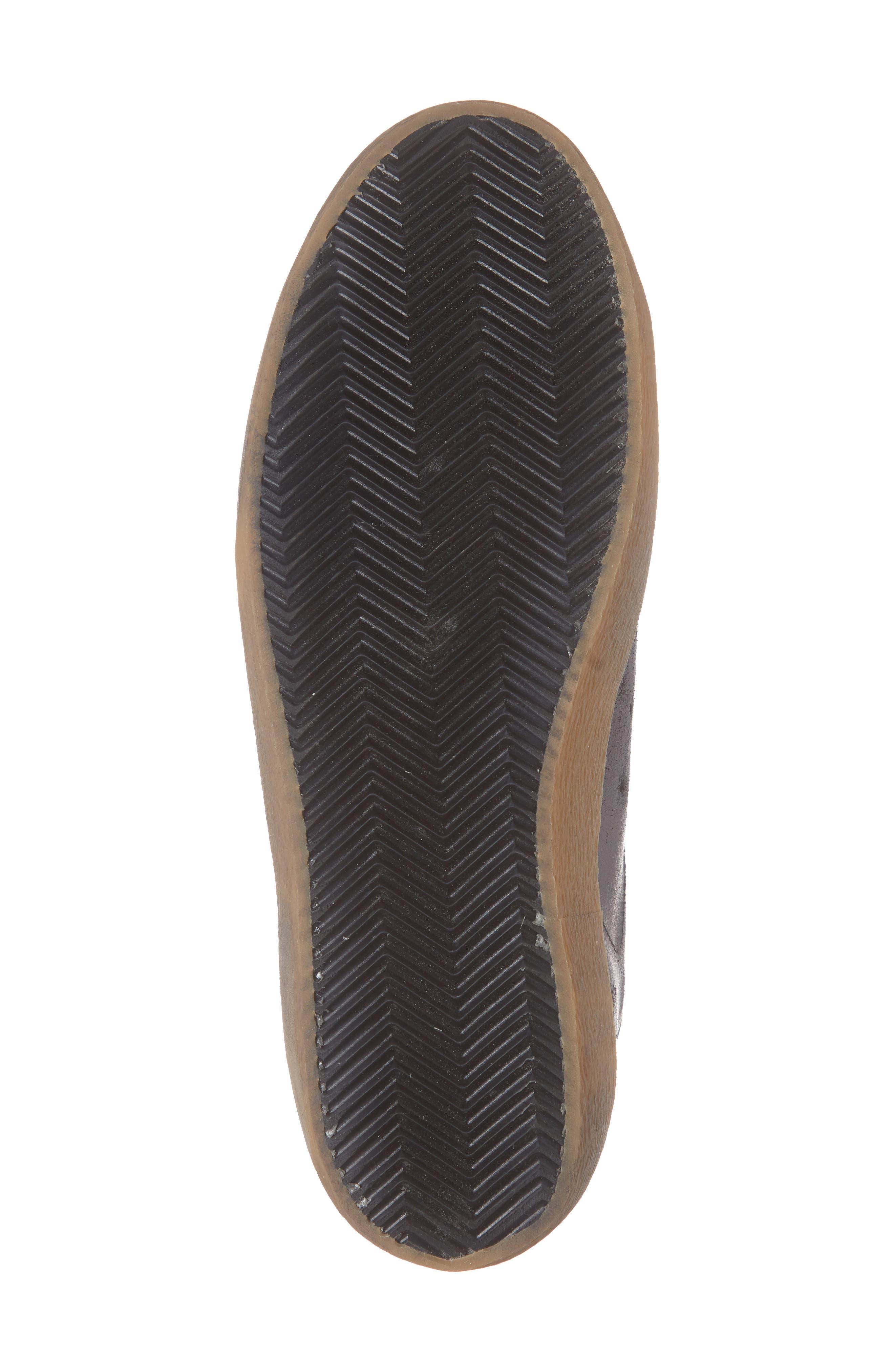 'Slide' Sneaker,                             Alternate thumbnail 6, color,                             BLACK SUEDE