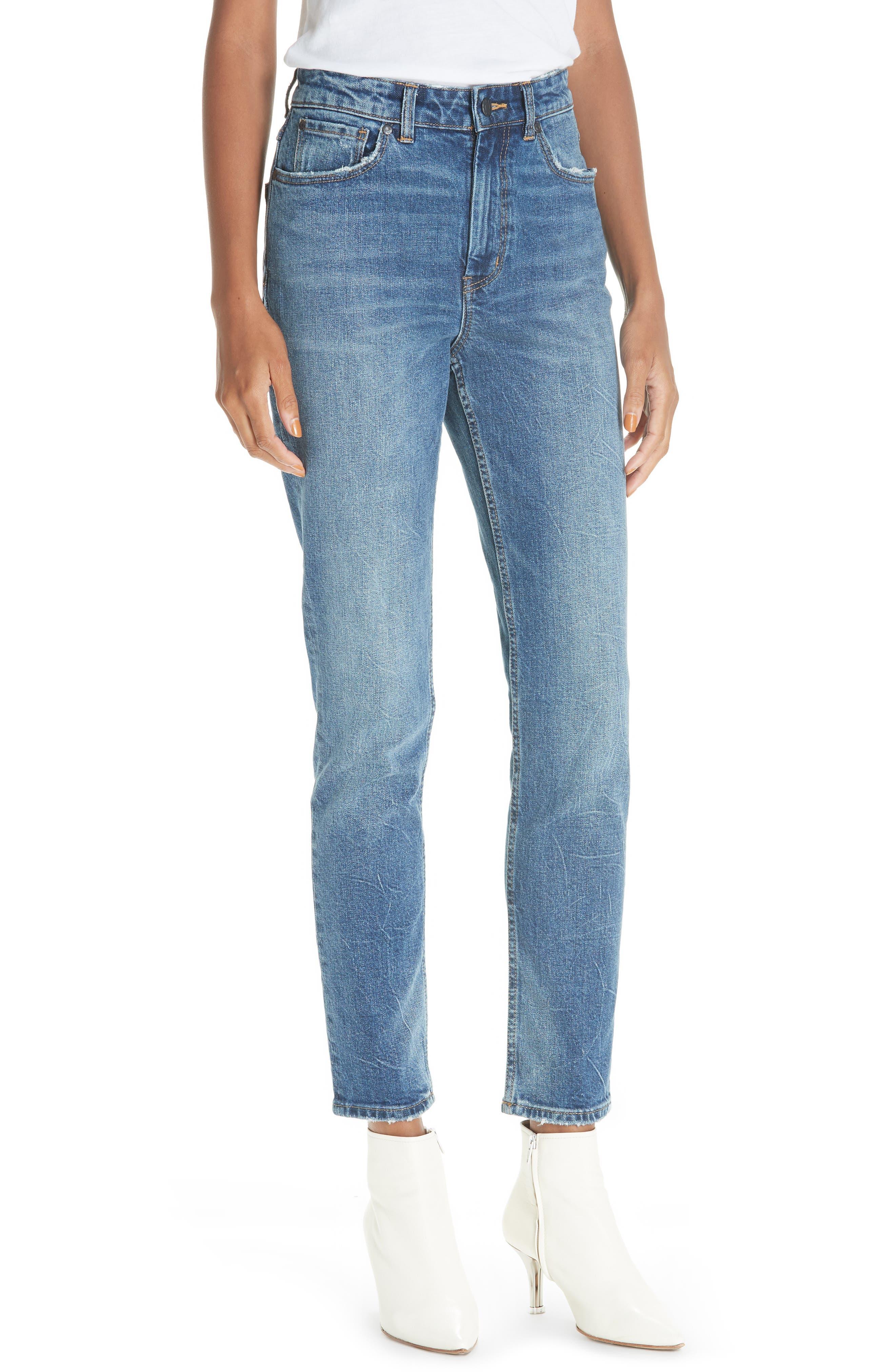 High Waist Straight Leg Jeans,                             Main thumbnail 1, color,                             GARWSH