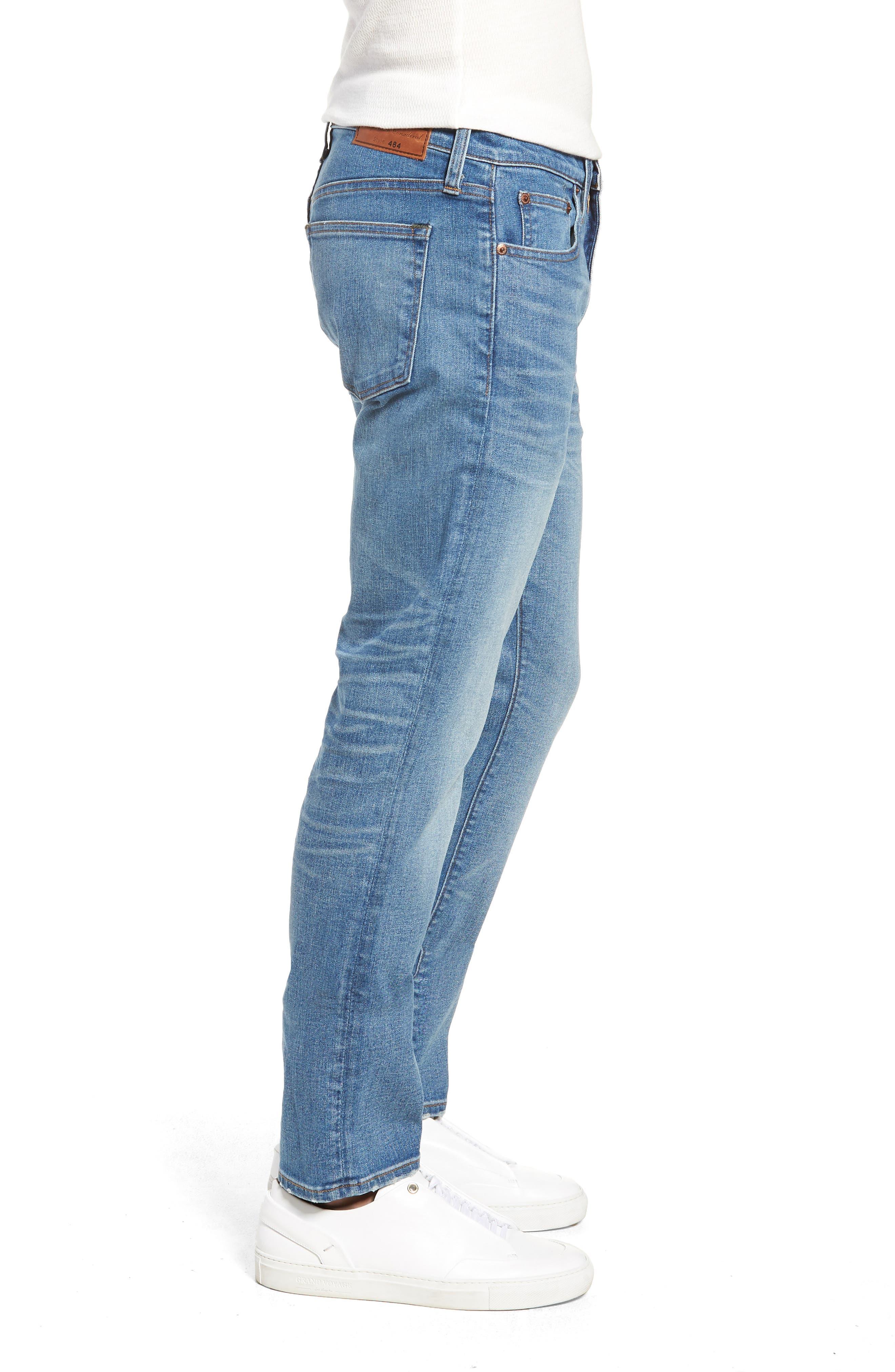 484 Slim Fit Distressed Stretch Jeans,                             Alternate thumbnail 3, color,                             STOCKTON WASH
