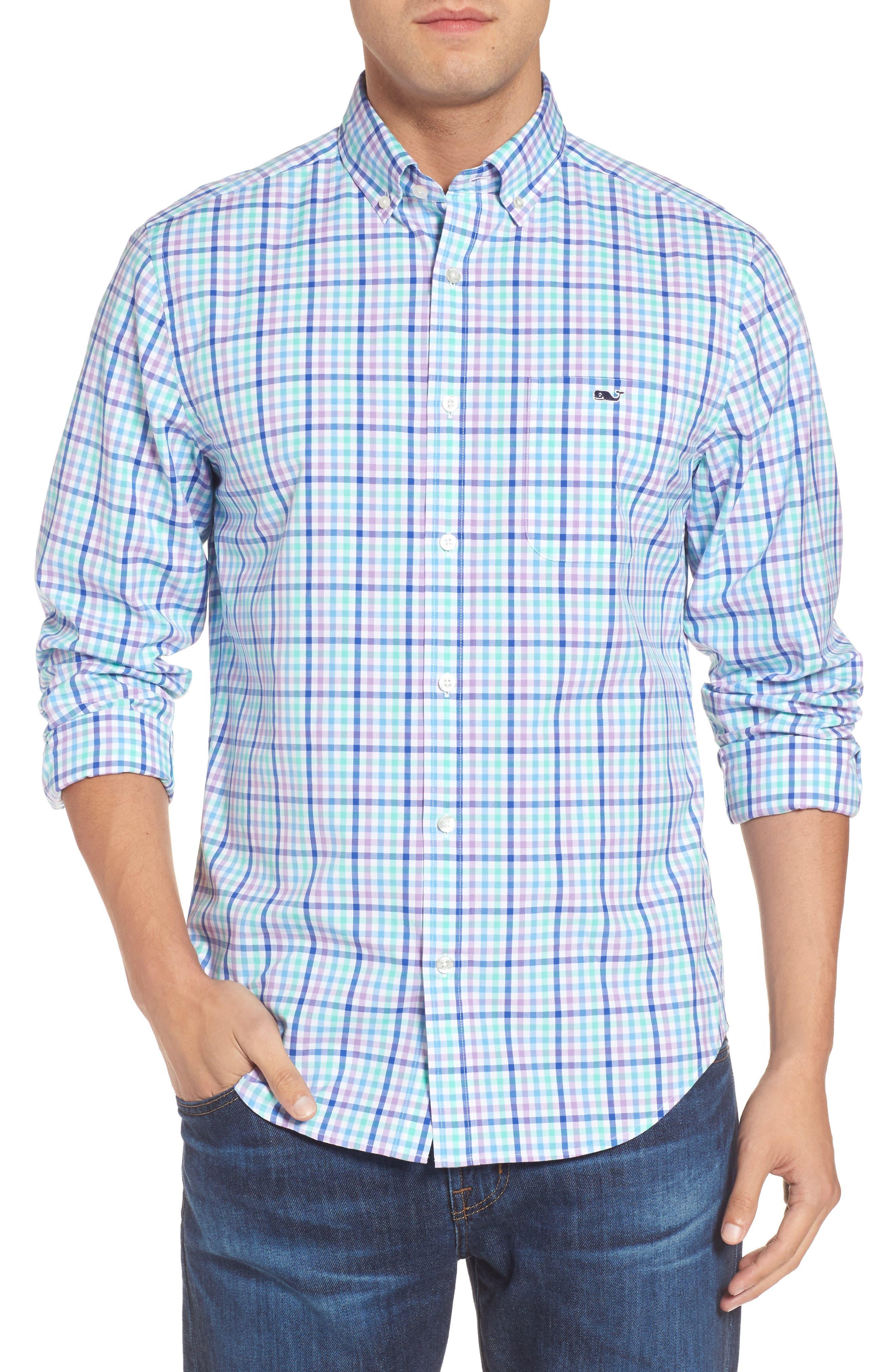 VINEYARD VINES,                             Tucker Gaspar Classic Fit Gingham Sport Shirt,                             Main thumbnail 1, color,                             359