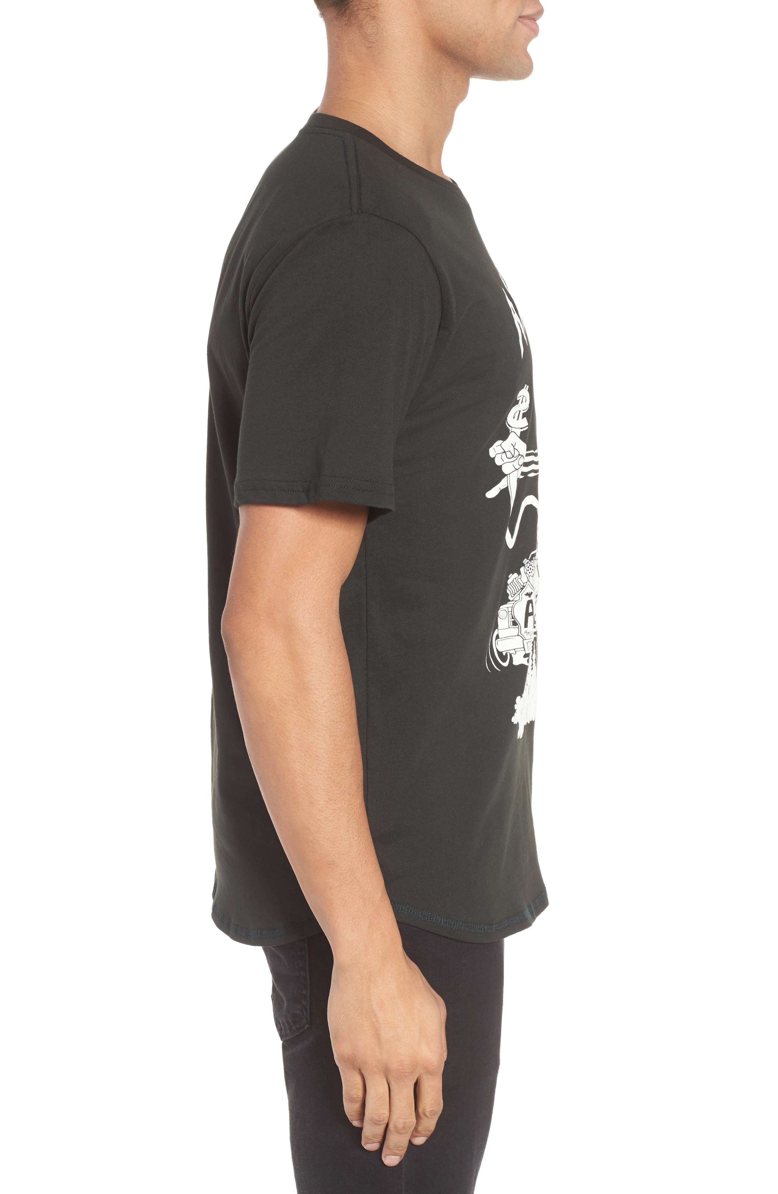 BARKING IRONS,                             Engine Americus Graphic T-Shirt,                             Alternate thumbnail 3, color,                             001