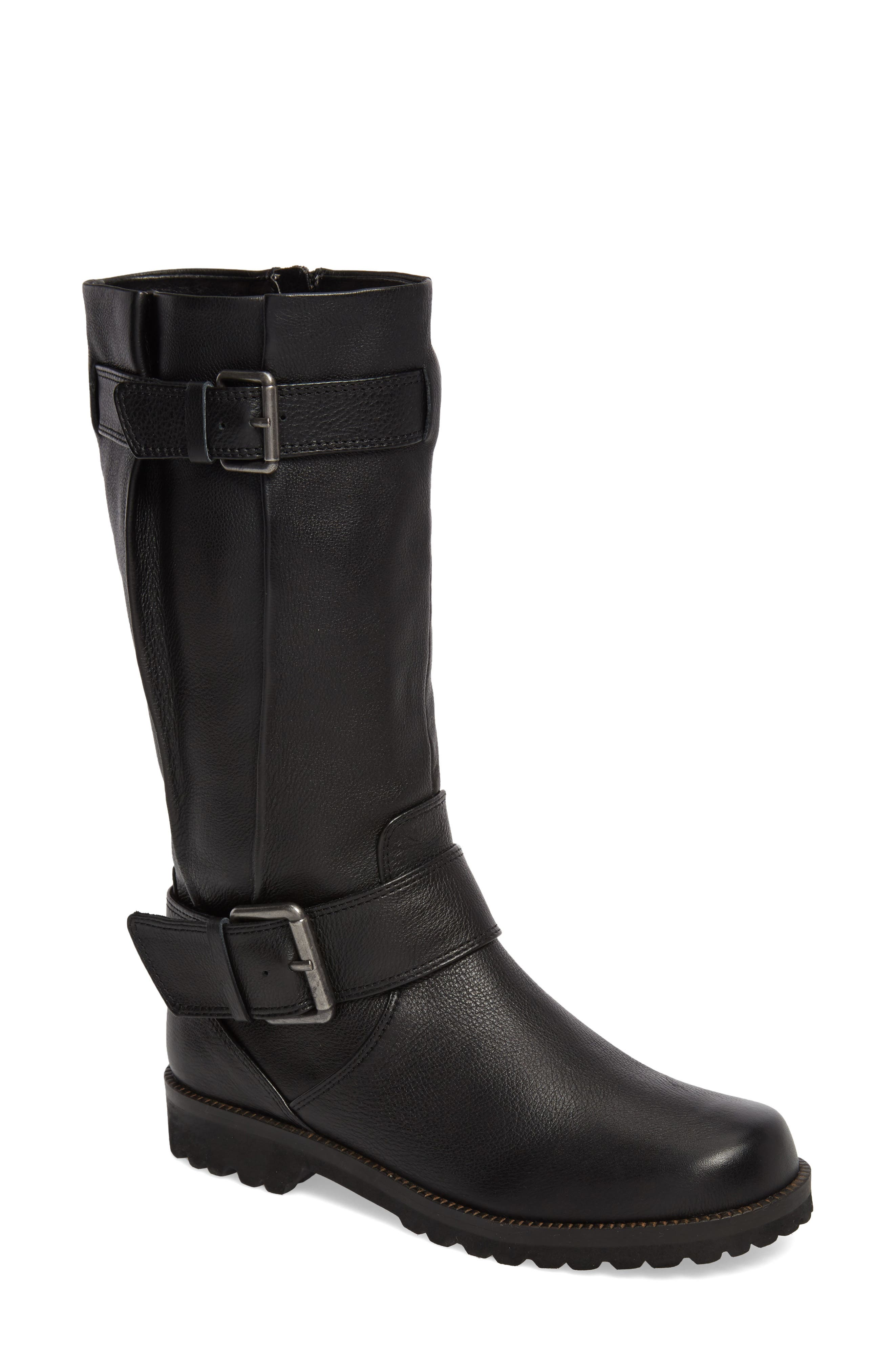 by Kenneth Cole 'Buckled Up' Boot,                             Alternate thumbnail 2, color,                             BLACK