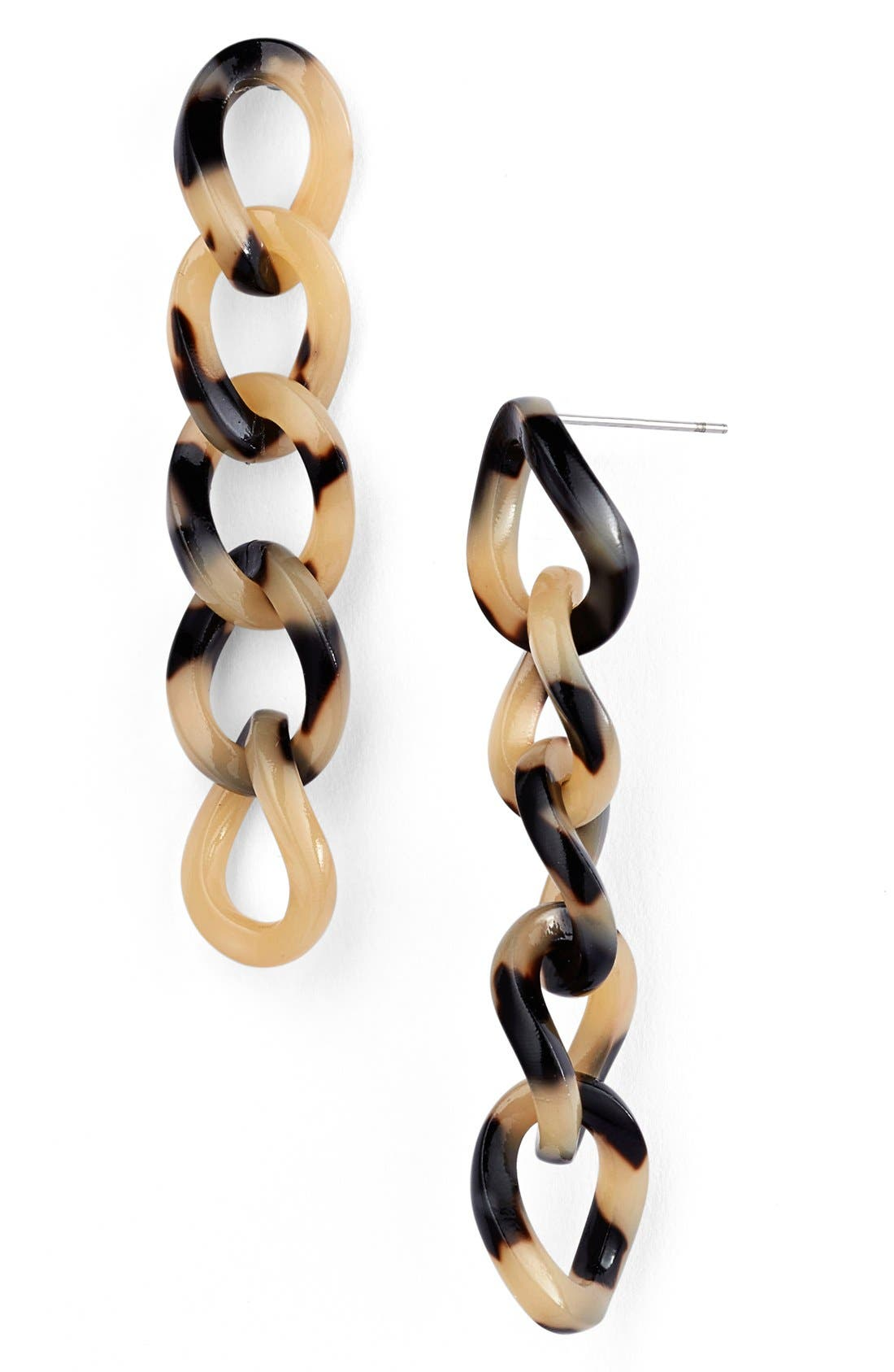 'Linear' Link Drop Earrings,                             Main thumbnail 5, color,