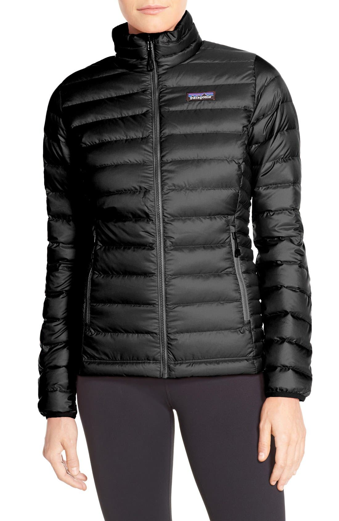 Packable Down Jacket,                         Main,                         color, BLACK