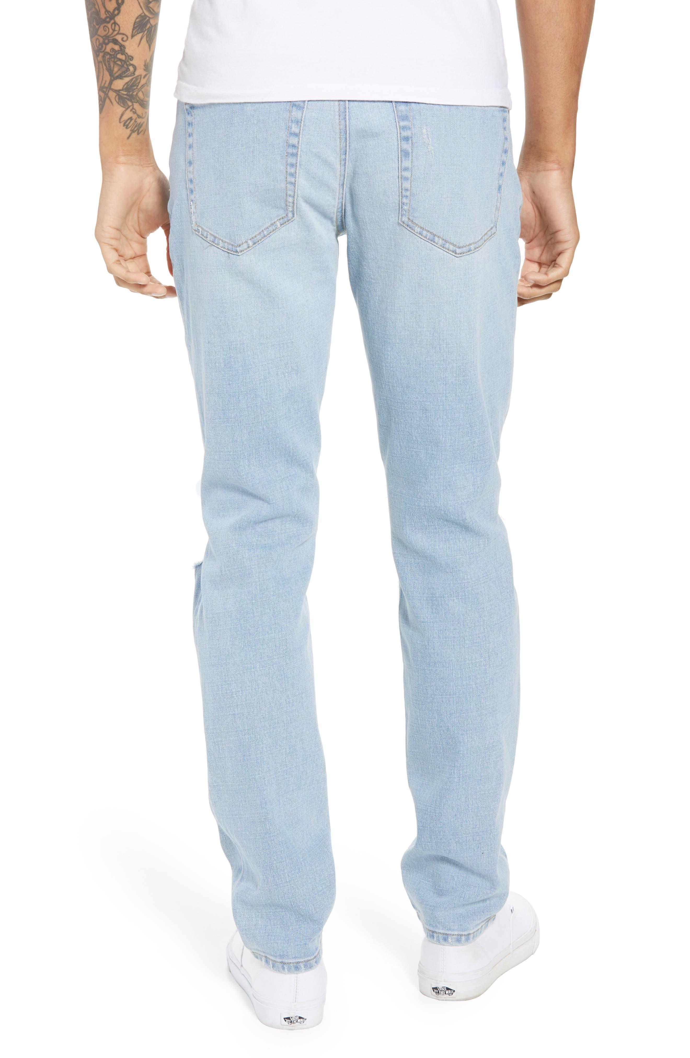 Ripped Skinny Jeans,                             Alternate thumbnail 2, color,                             BLUE CORGAN WASH