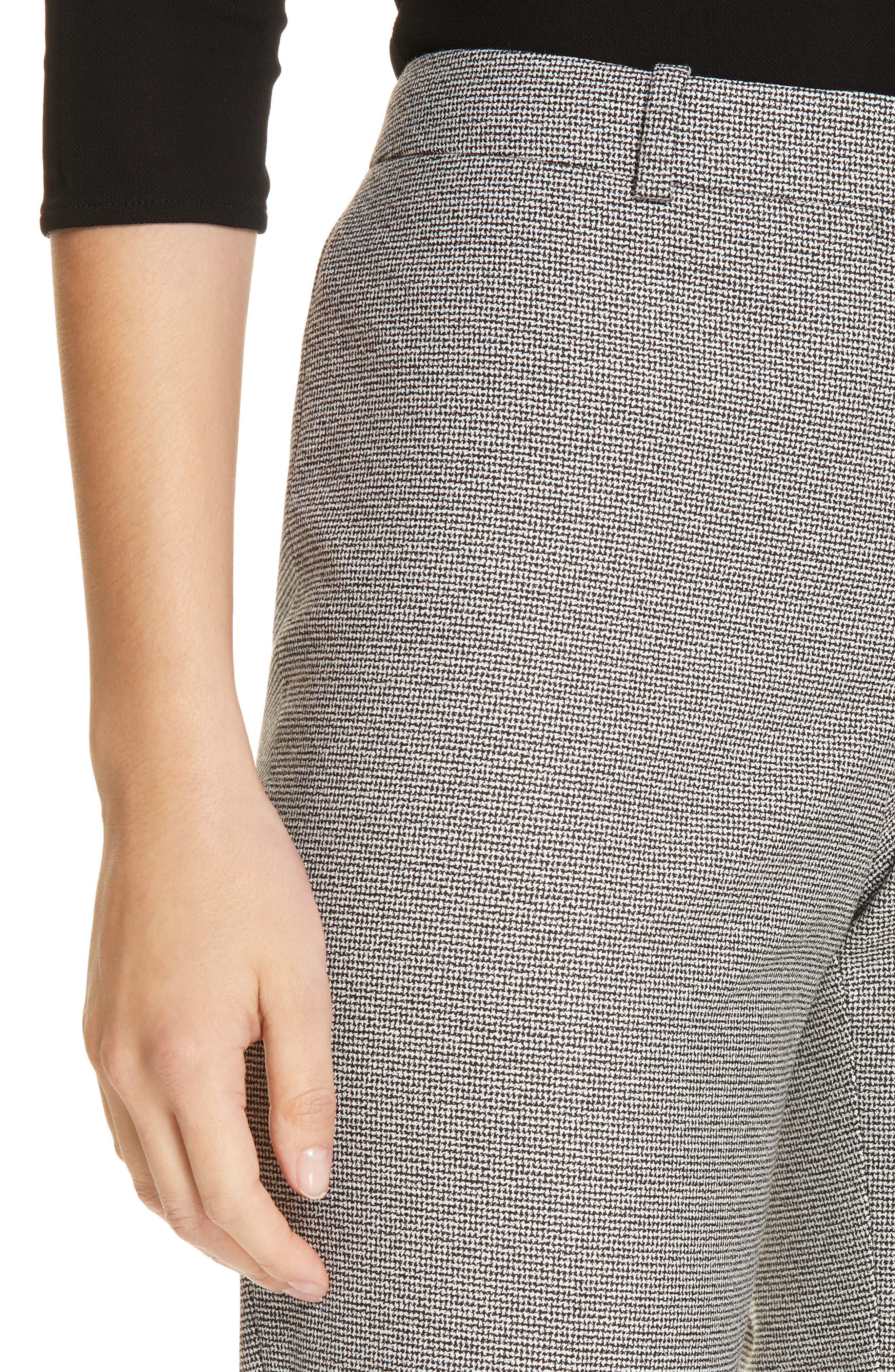 Tulea Blurred Optic Wool Suiting Trousers,                             Alternate thumbnail 4, color,                             BLACK FANTASY