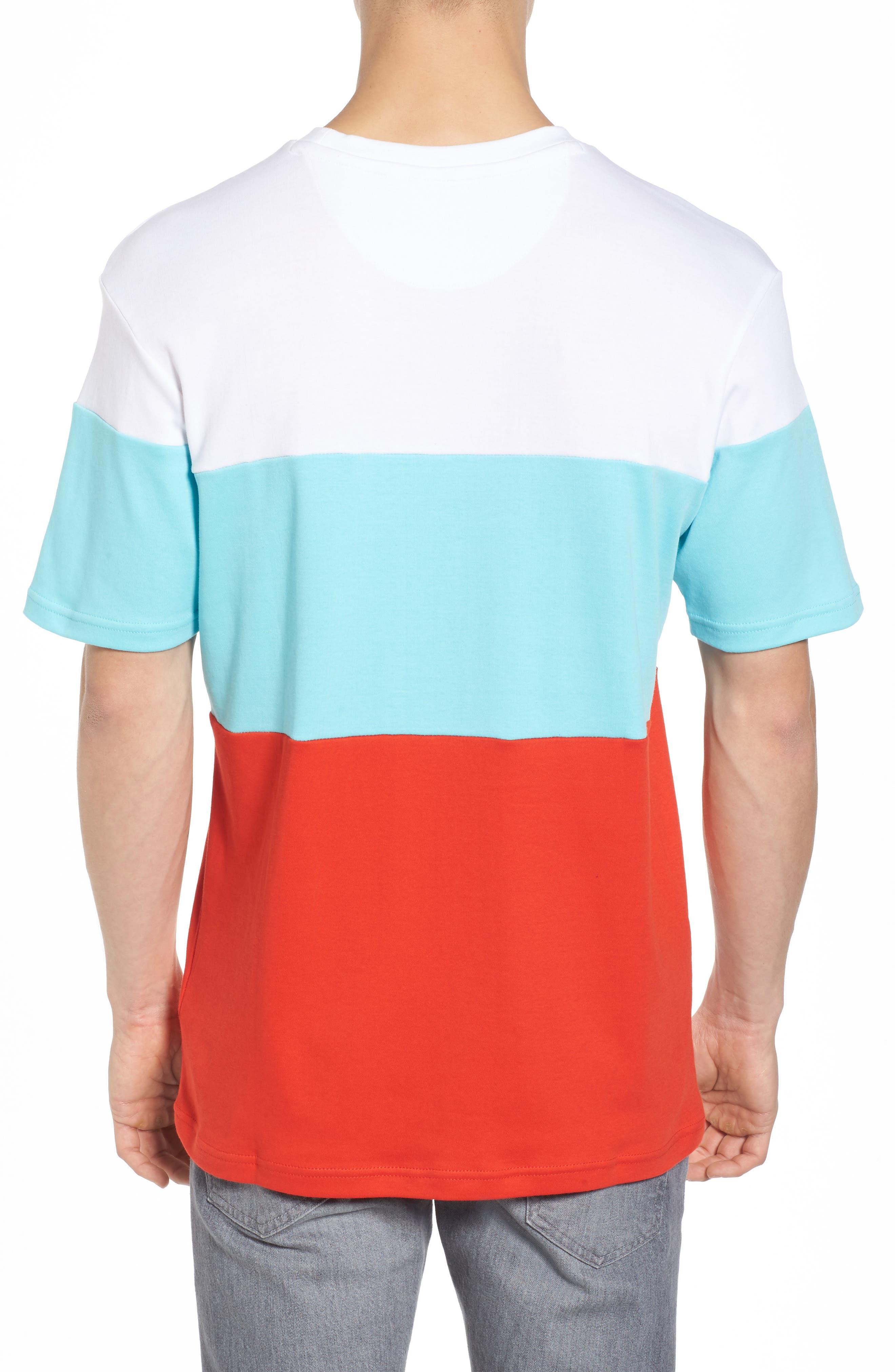 Vialli Colorblock Logo T-Shirt,                             Alternate thumbnail 2, color,                             400