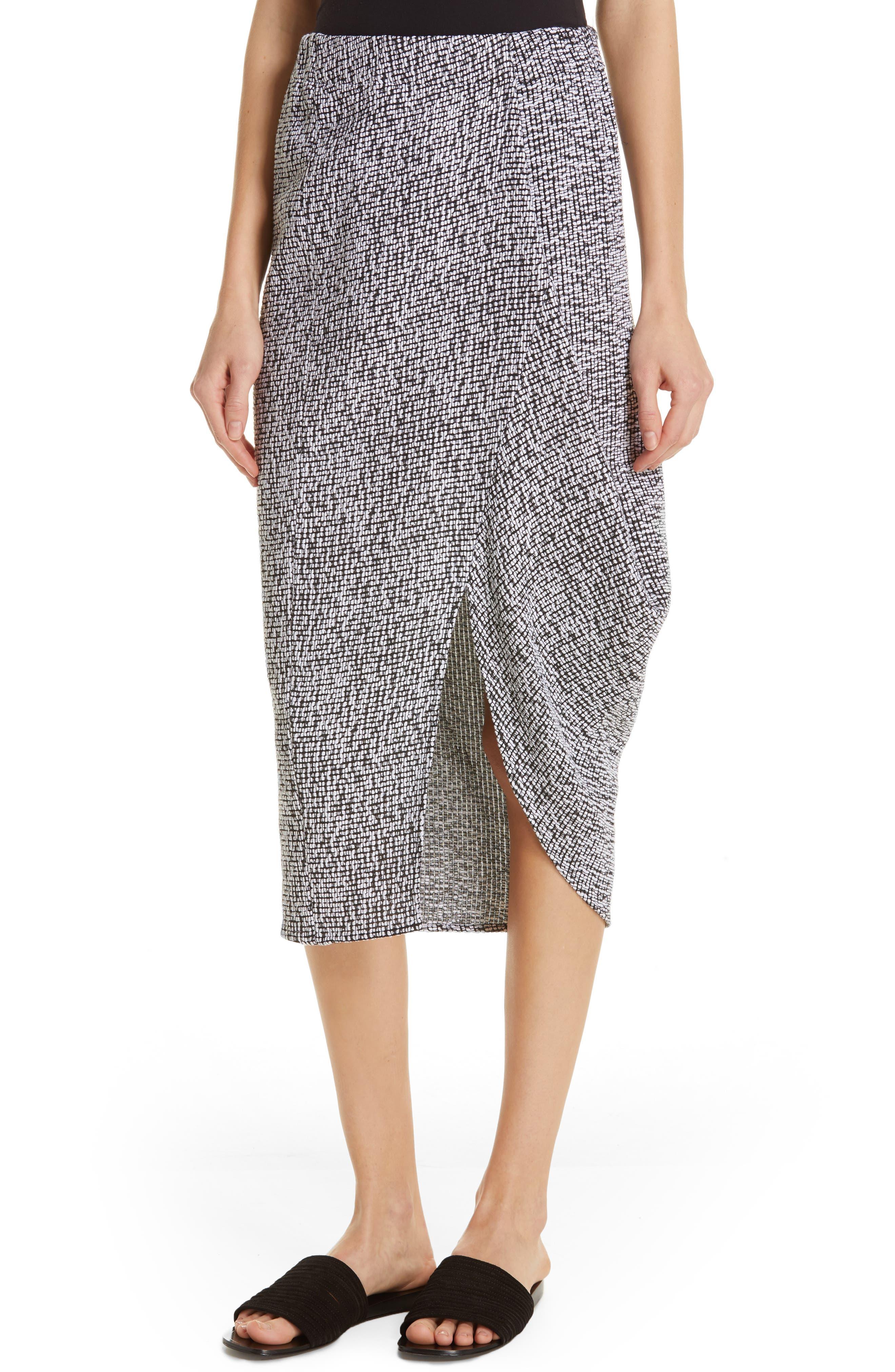 Mio Skirt,                             Alternate thumbnail 4, color,                             WHITE/ BLACK