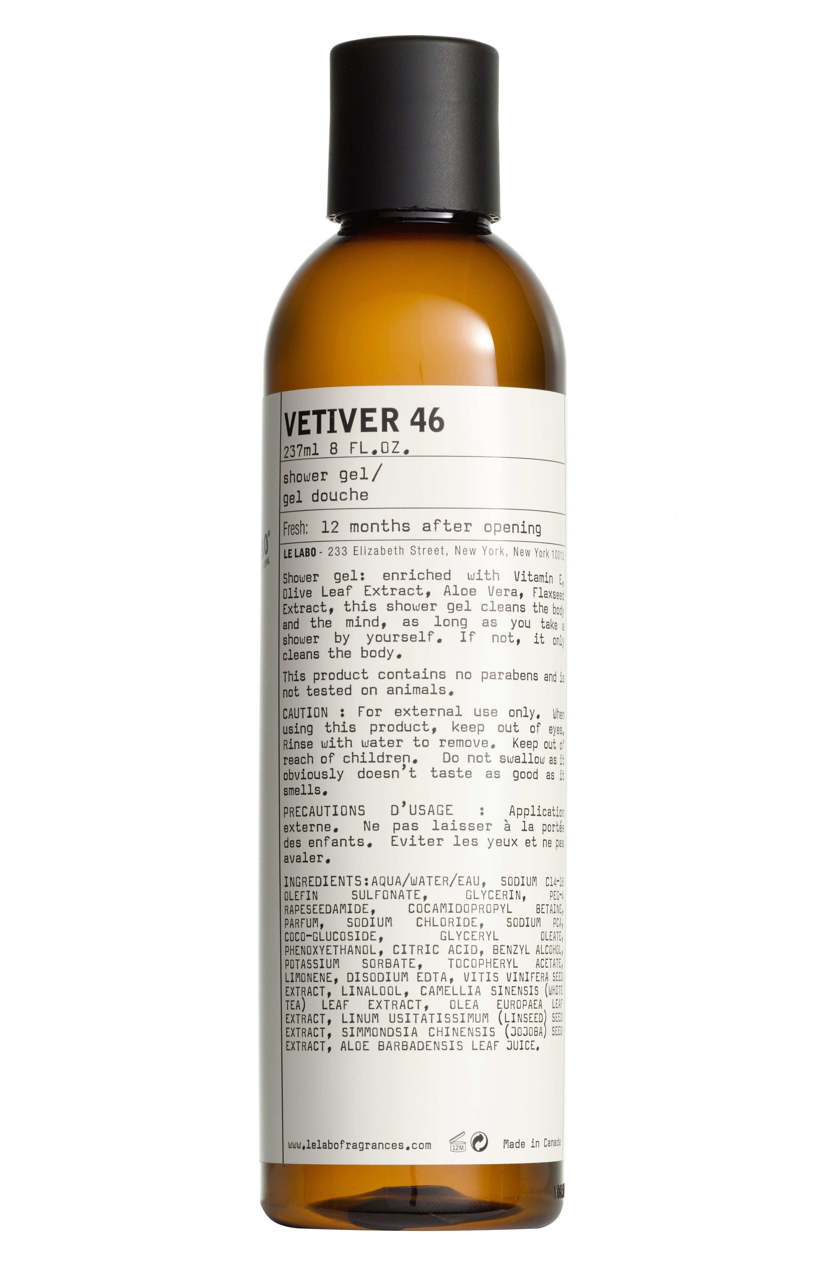 'Vetiver 46' Shower Gel,                             Alternate thumbnail 2, color,                             NO COLOR