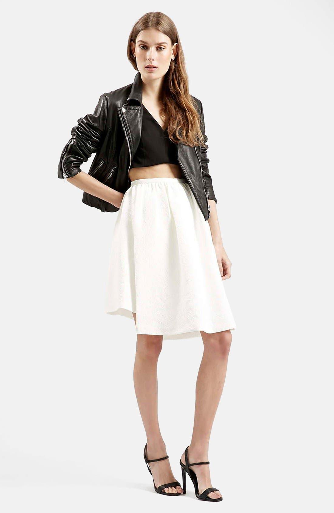 Asymmetrical Midi Skirt,                             Alternate thumbnail 3, color,                             100