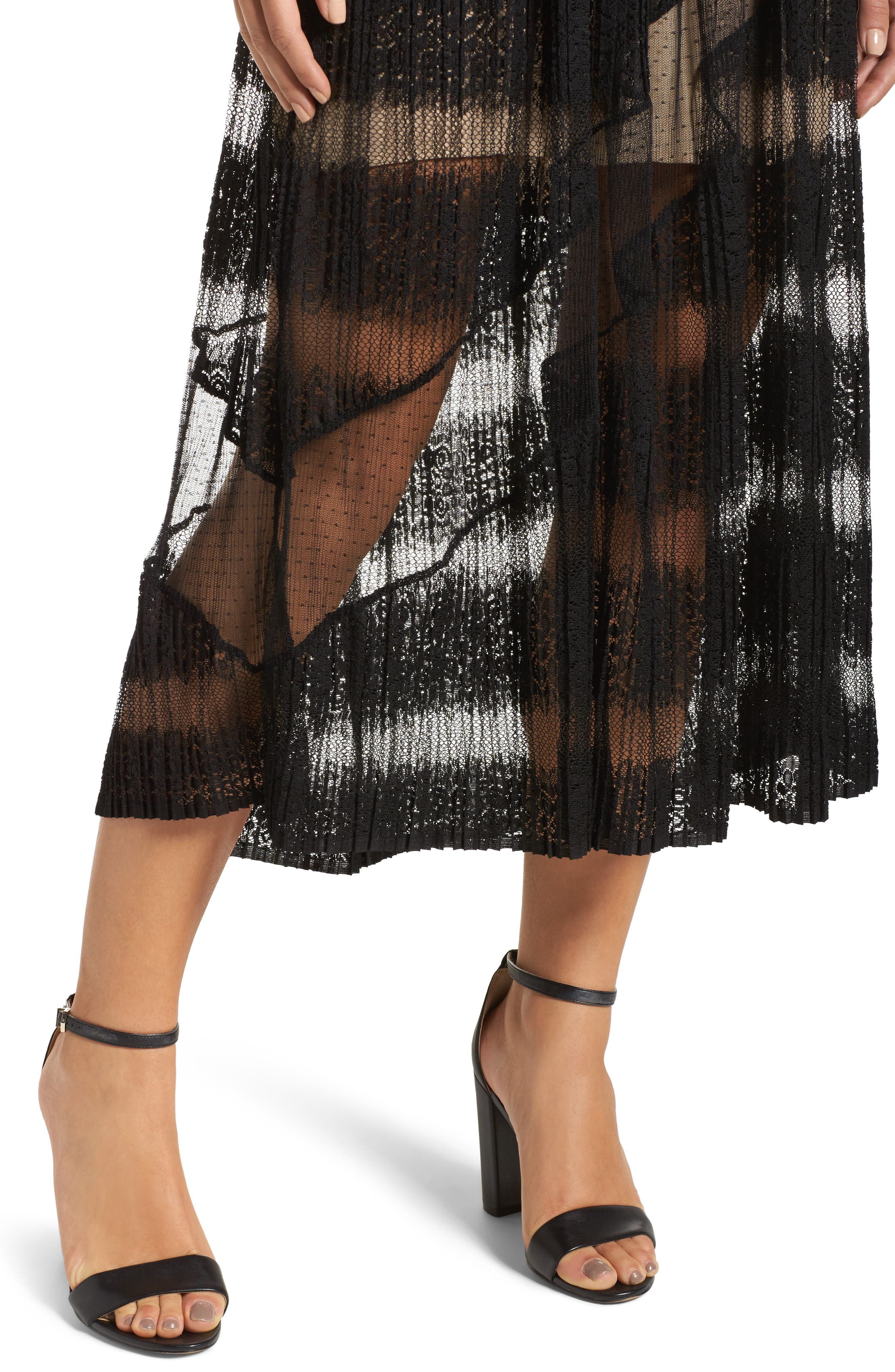 Mixed Media Dress,                             Alternate thumbnail 4, color,