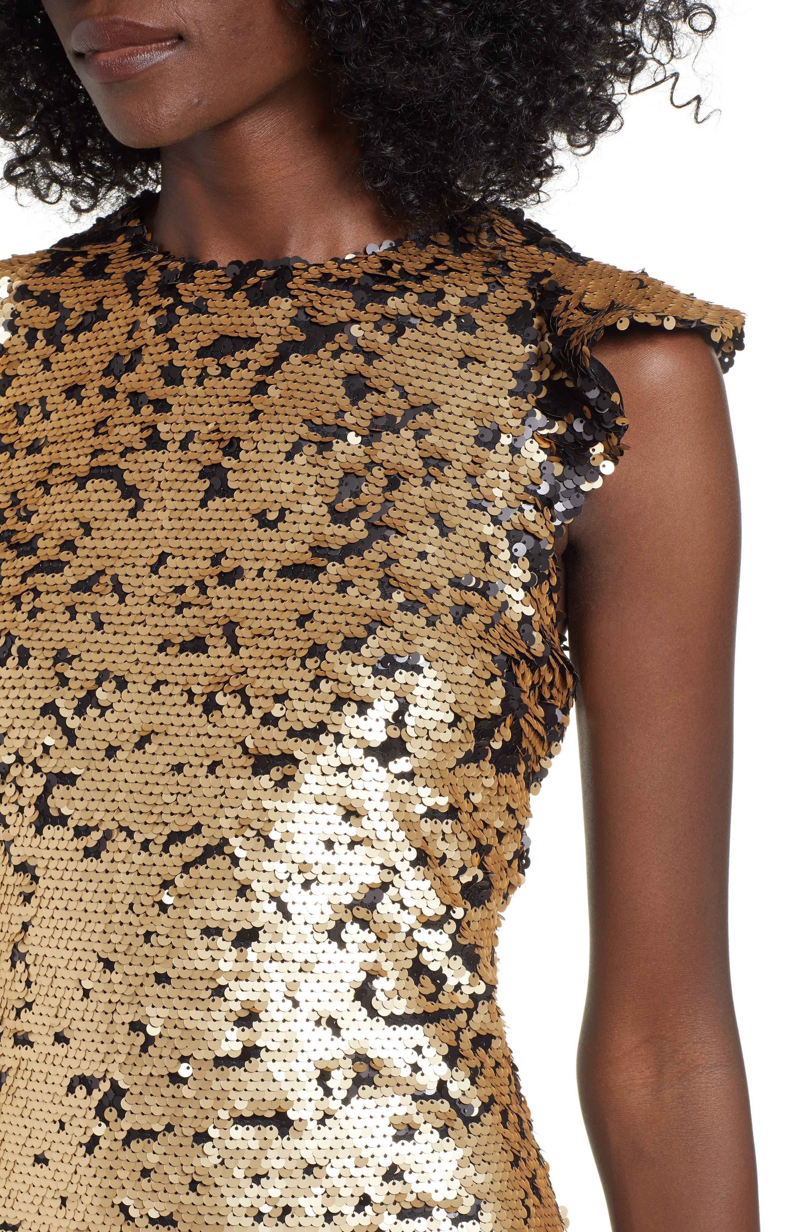 Sequin Babydoll Dress,                             Alternate thumbnail 4, color,                             710