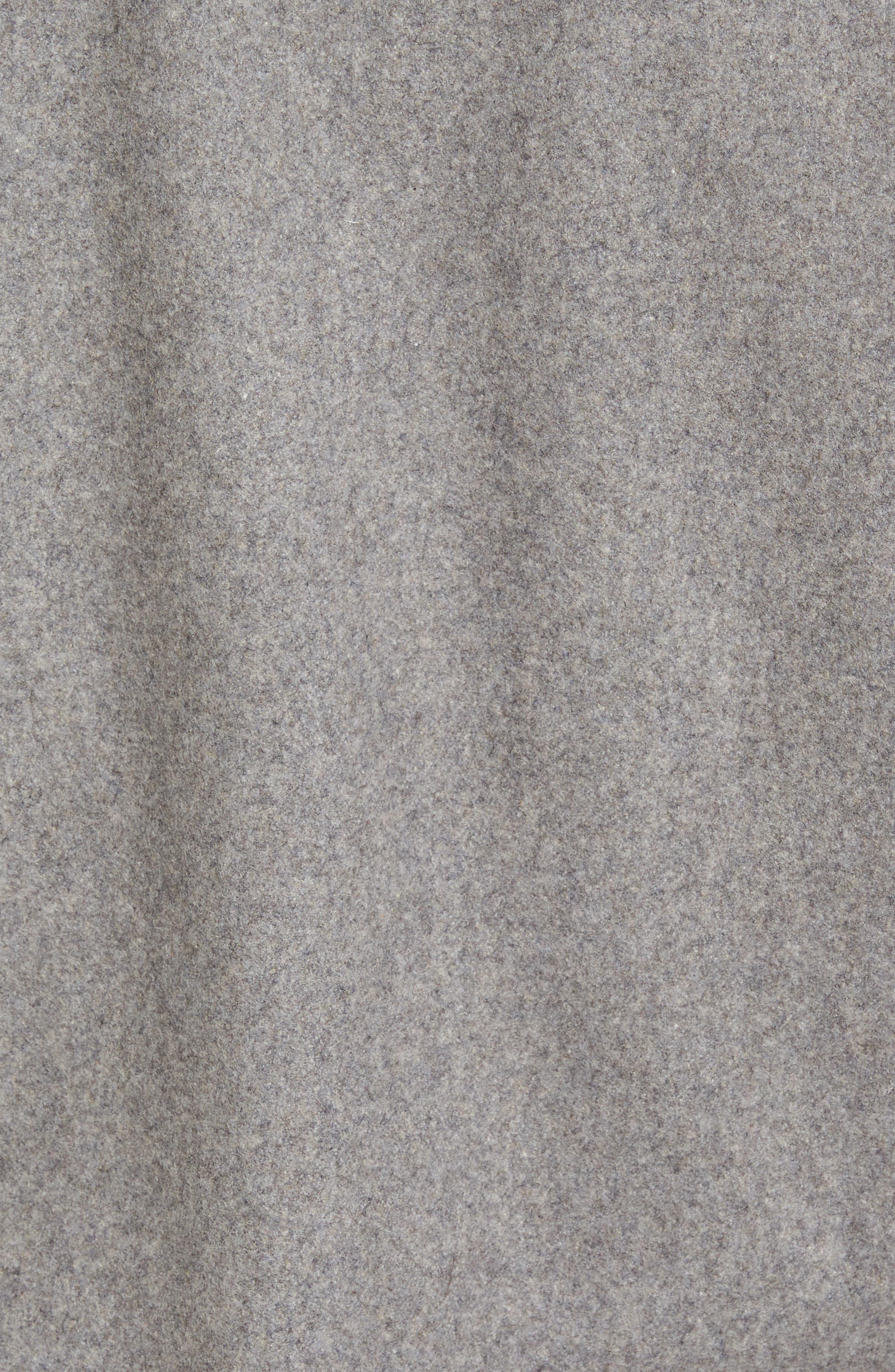 Fleece Collar Wool Blend A-2 Jacket,                             Alternate thumbnail 6, color,                             034