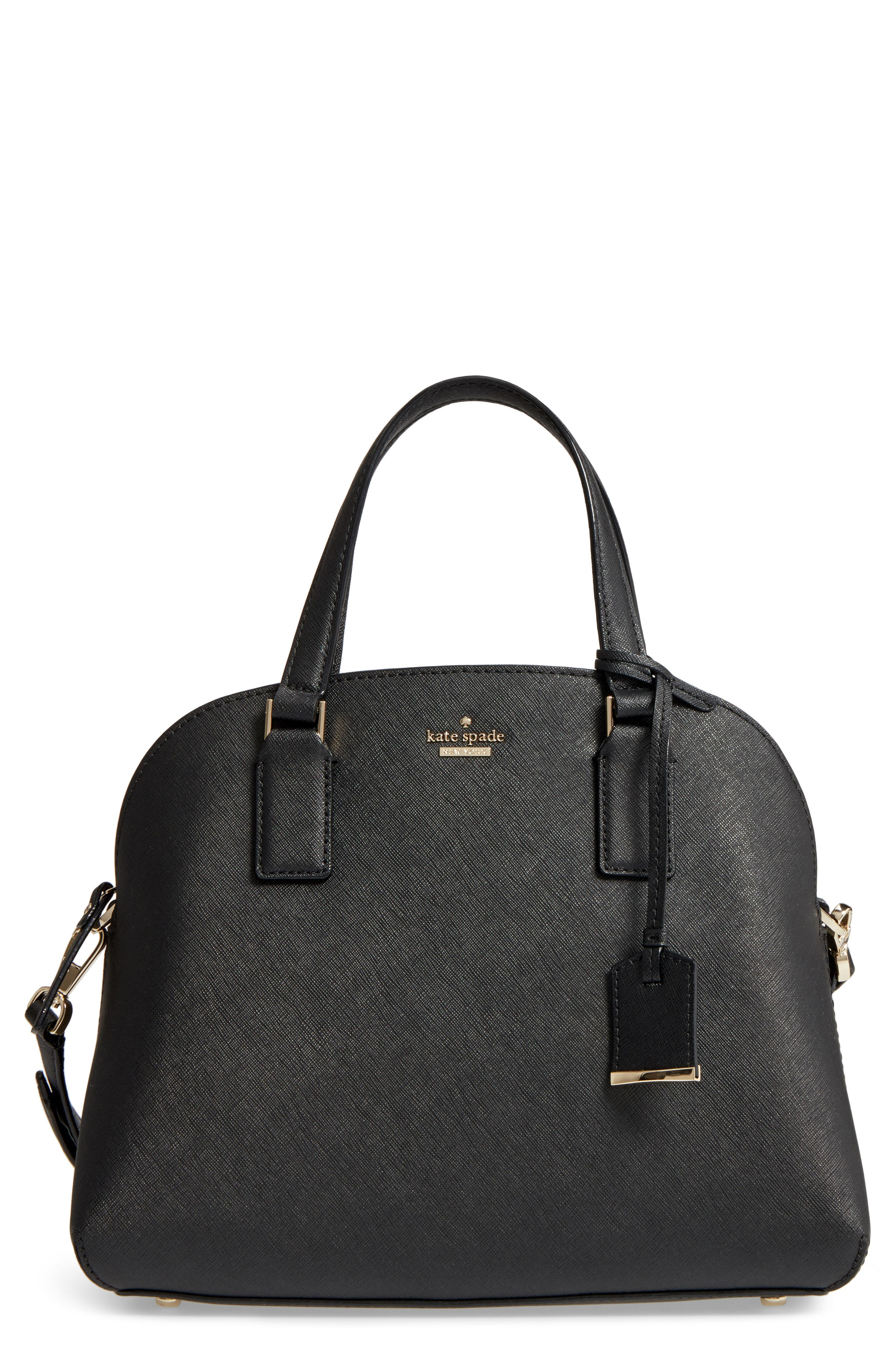 cameron street - lottie leather satchel,                         Main,                         color, 001